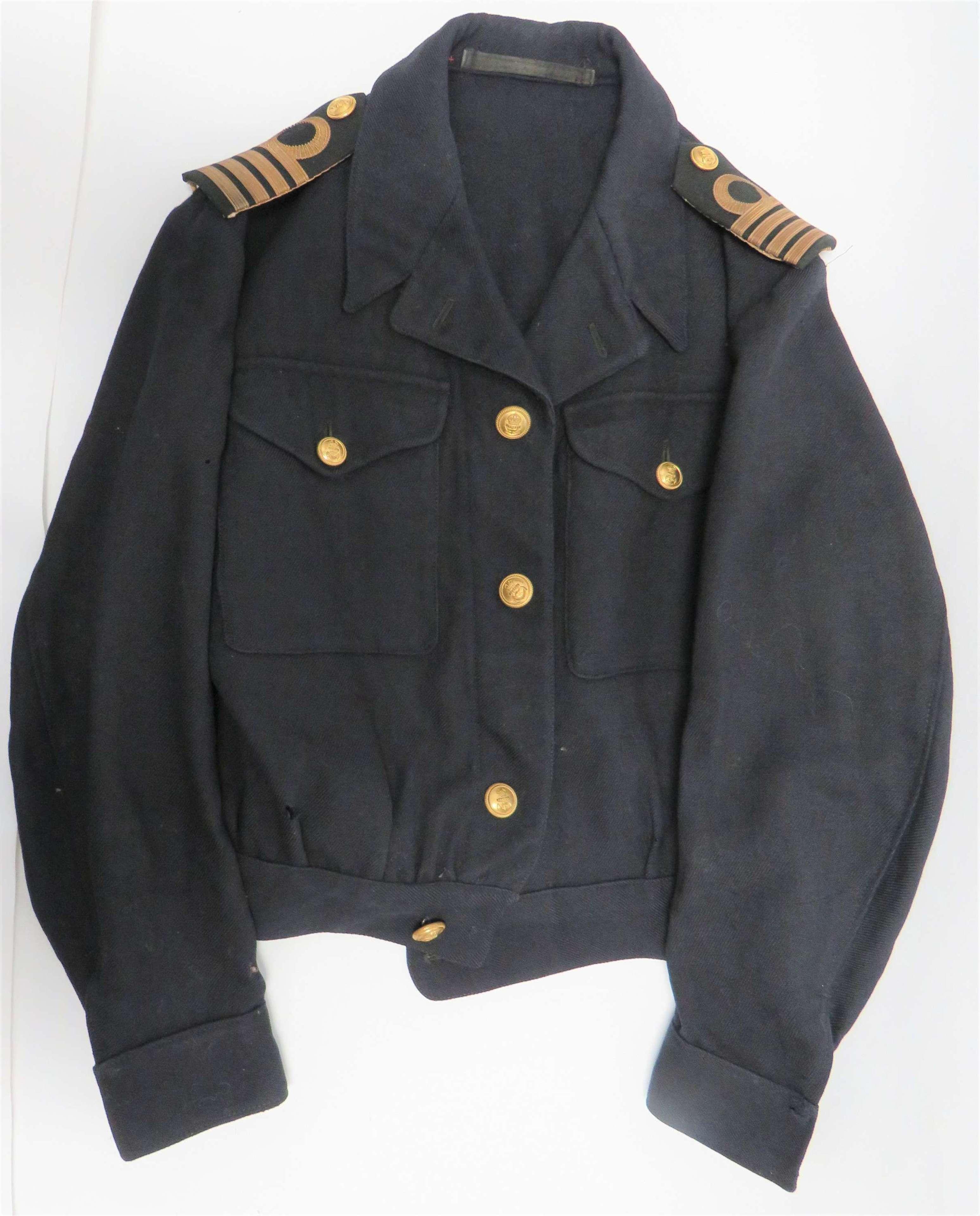 1944 Dated Royal Navy Captains Battle Dress Jacket