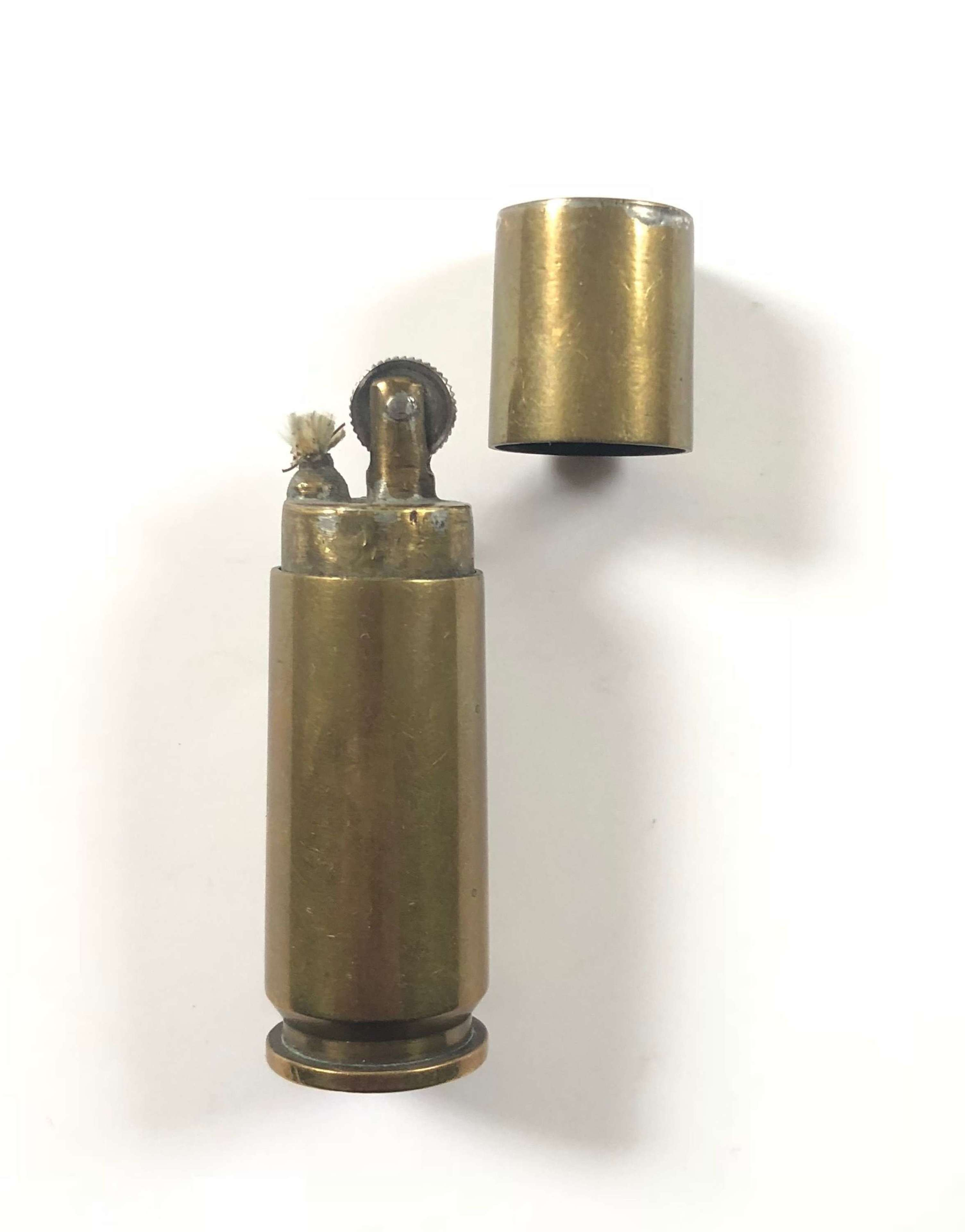 WW2 Trench Art Brass Cigarette Lighter.