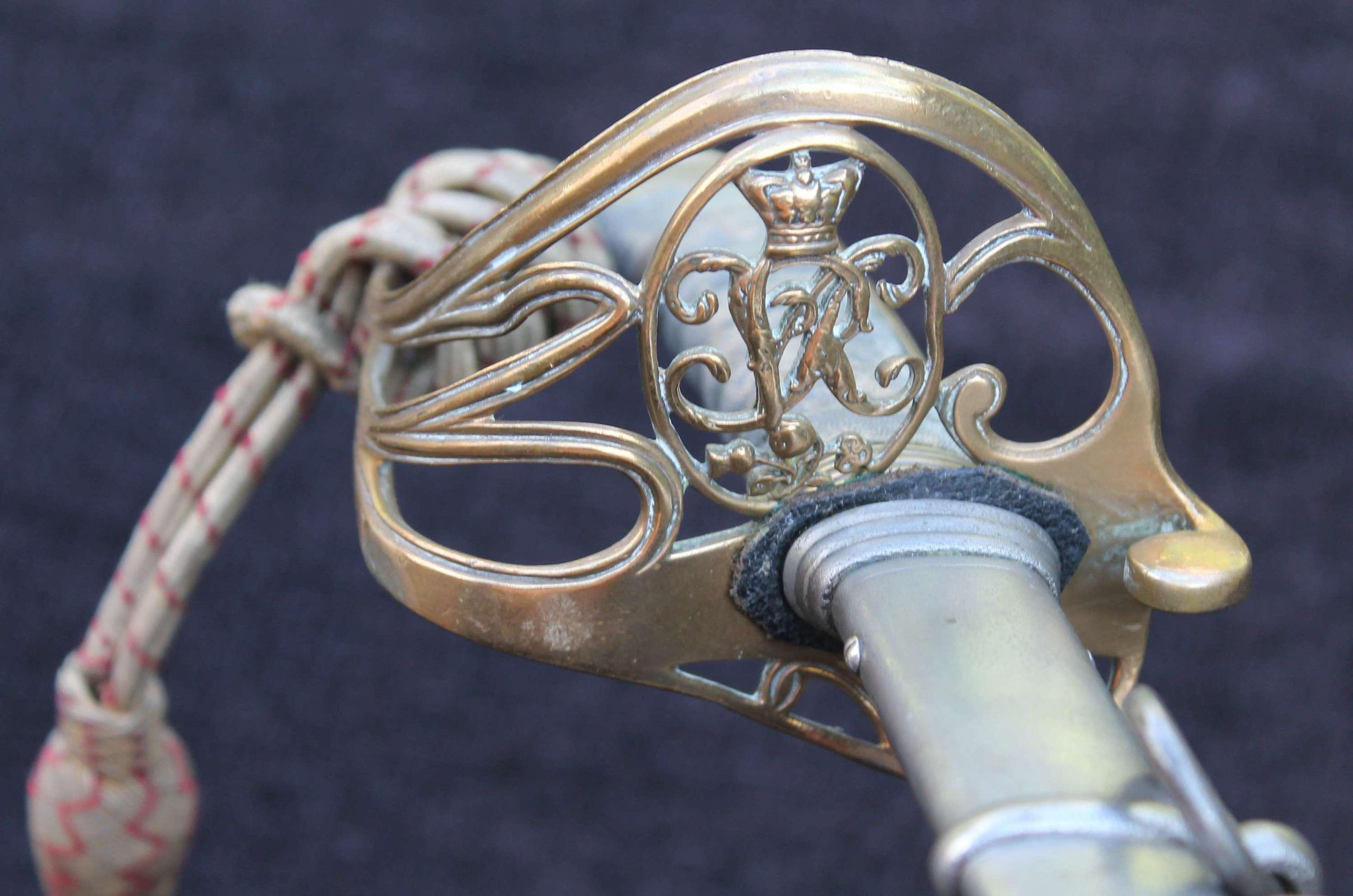 Victorian King's Liverpool Regiment Officers Sword
