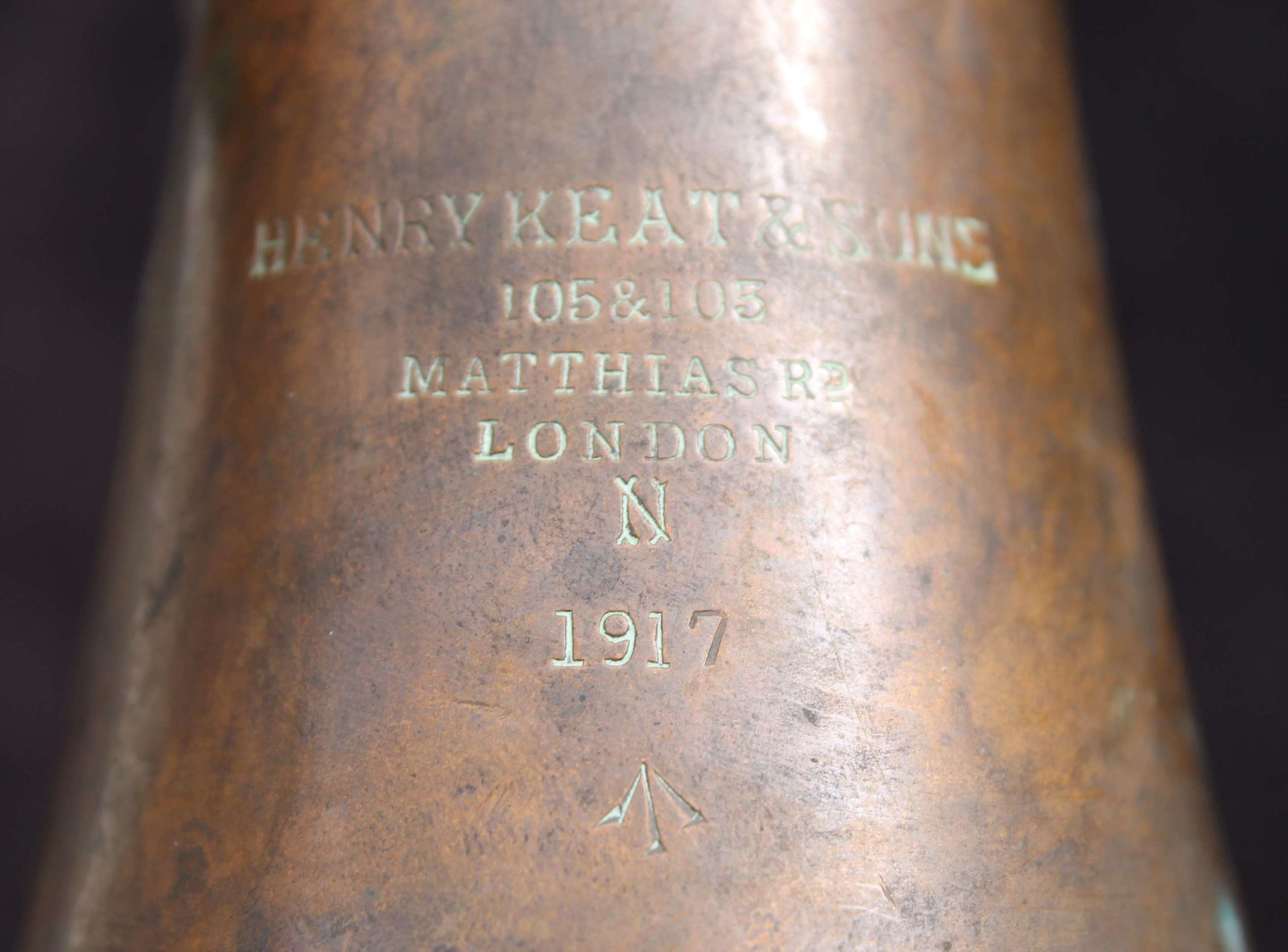 British Army Bugle Dated 1917