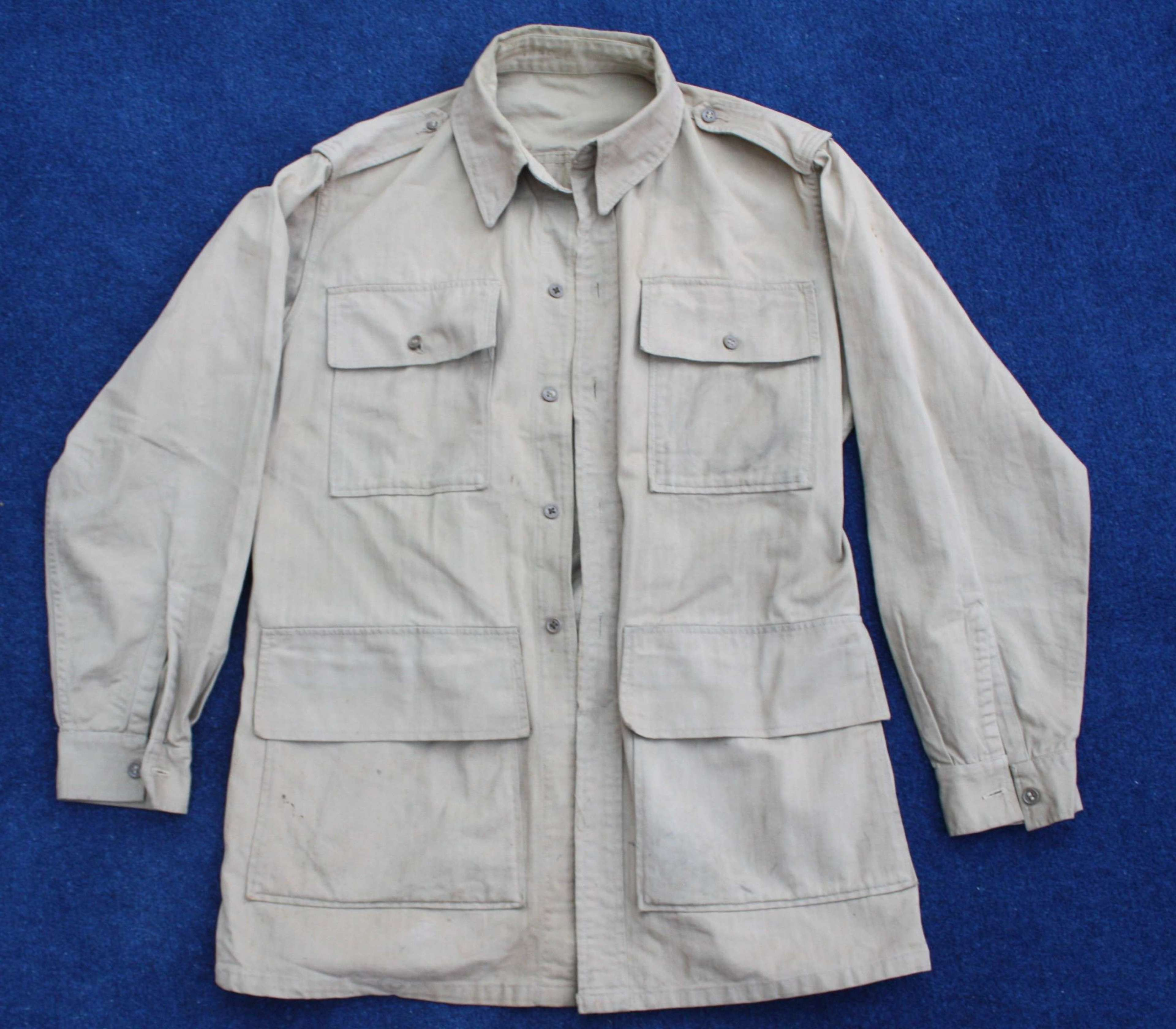 WW2 British Herringbone Khaki Drill Bush Jacket / Tunic