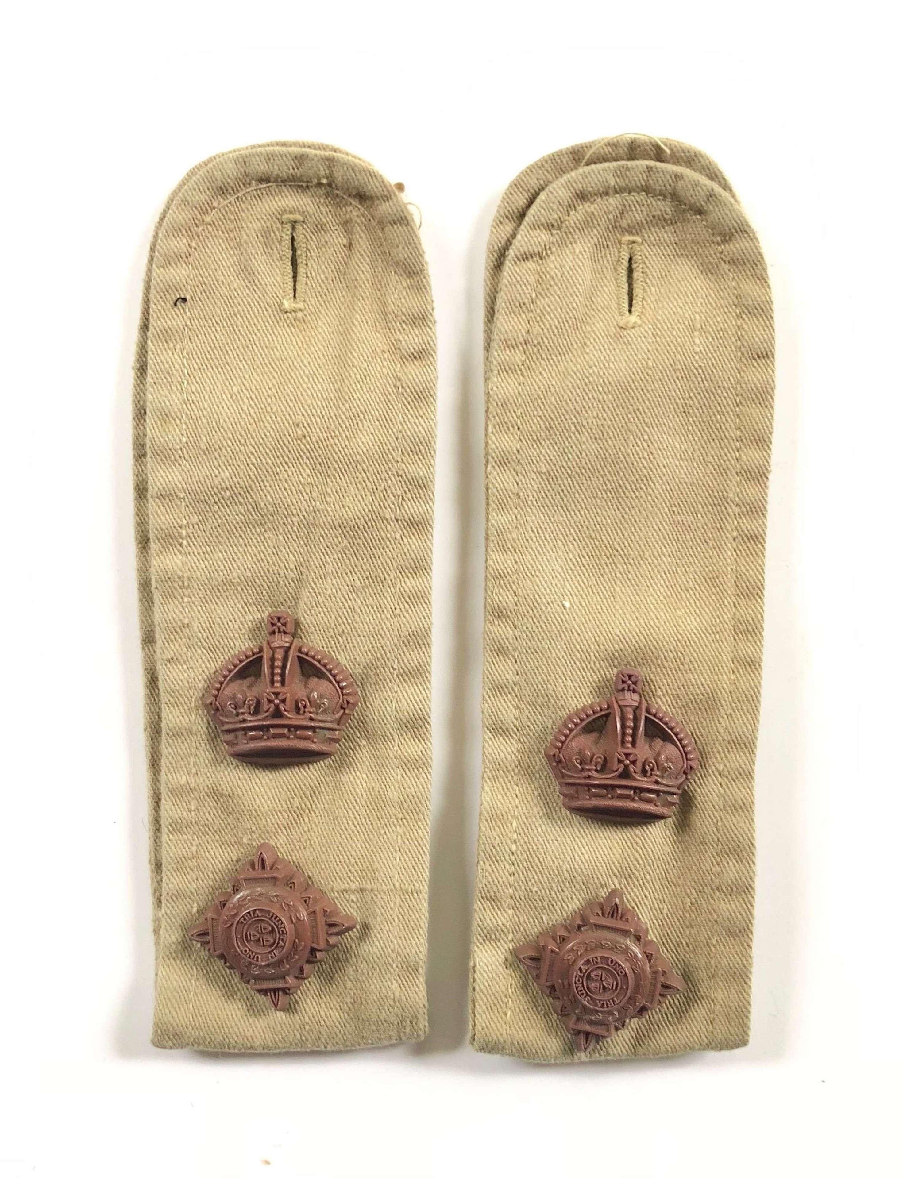 WW2 KD Lieutenant Colonel Economy Rank KD Shoulder Straps.