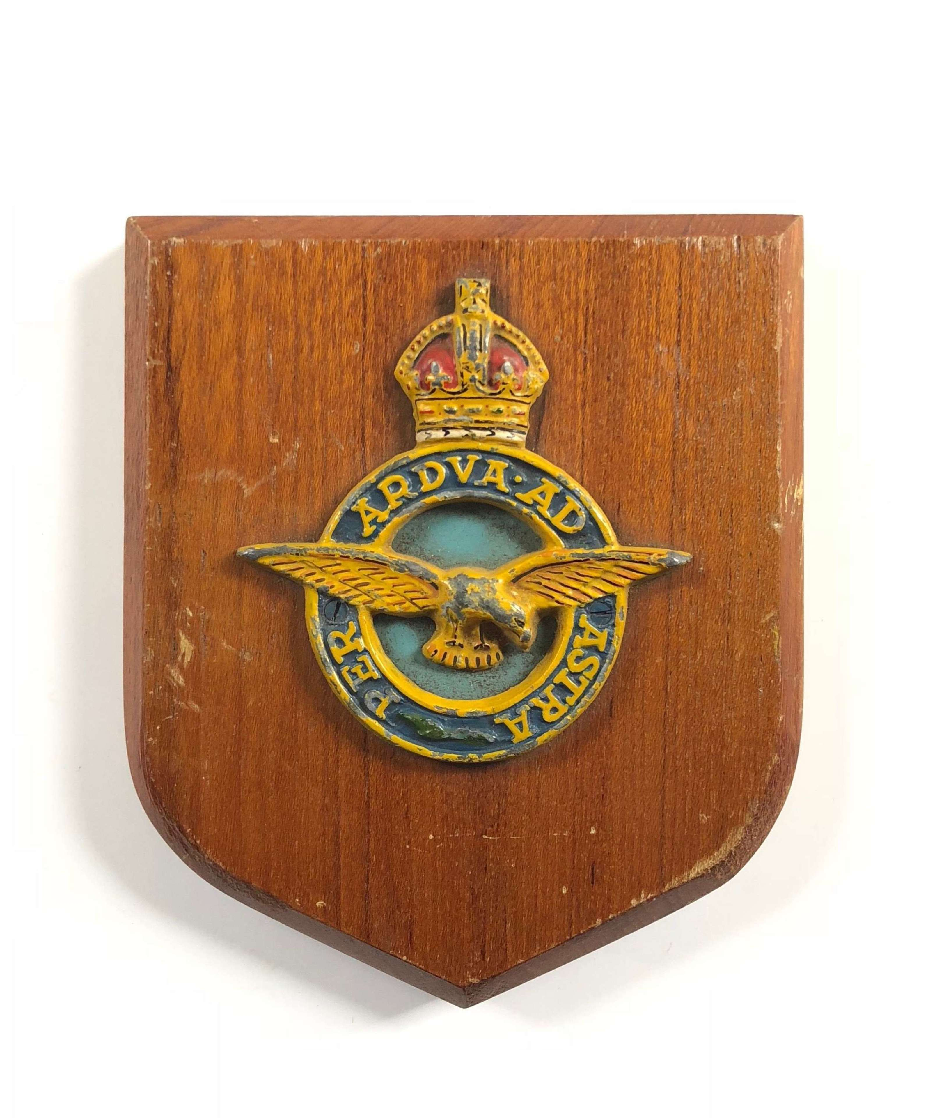 RAF Royal Air Force King's Crown Wall Plaque.