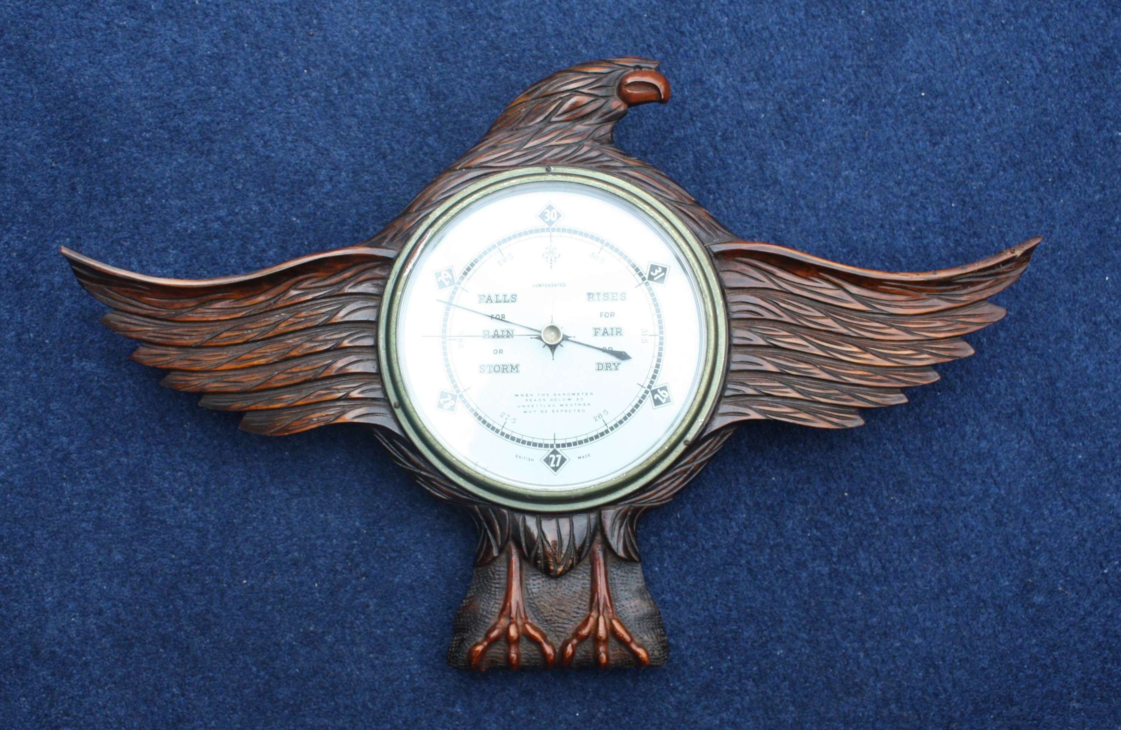 WW1 Carved Wooden Eagle RFC Barometer 16th Squadron SALE TO UK ONLY