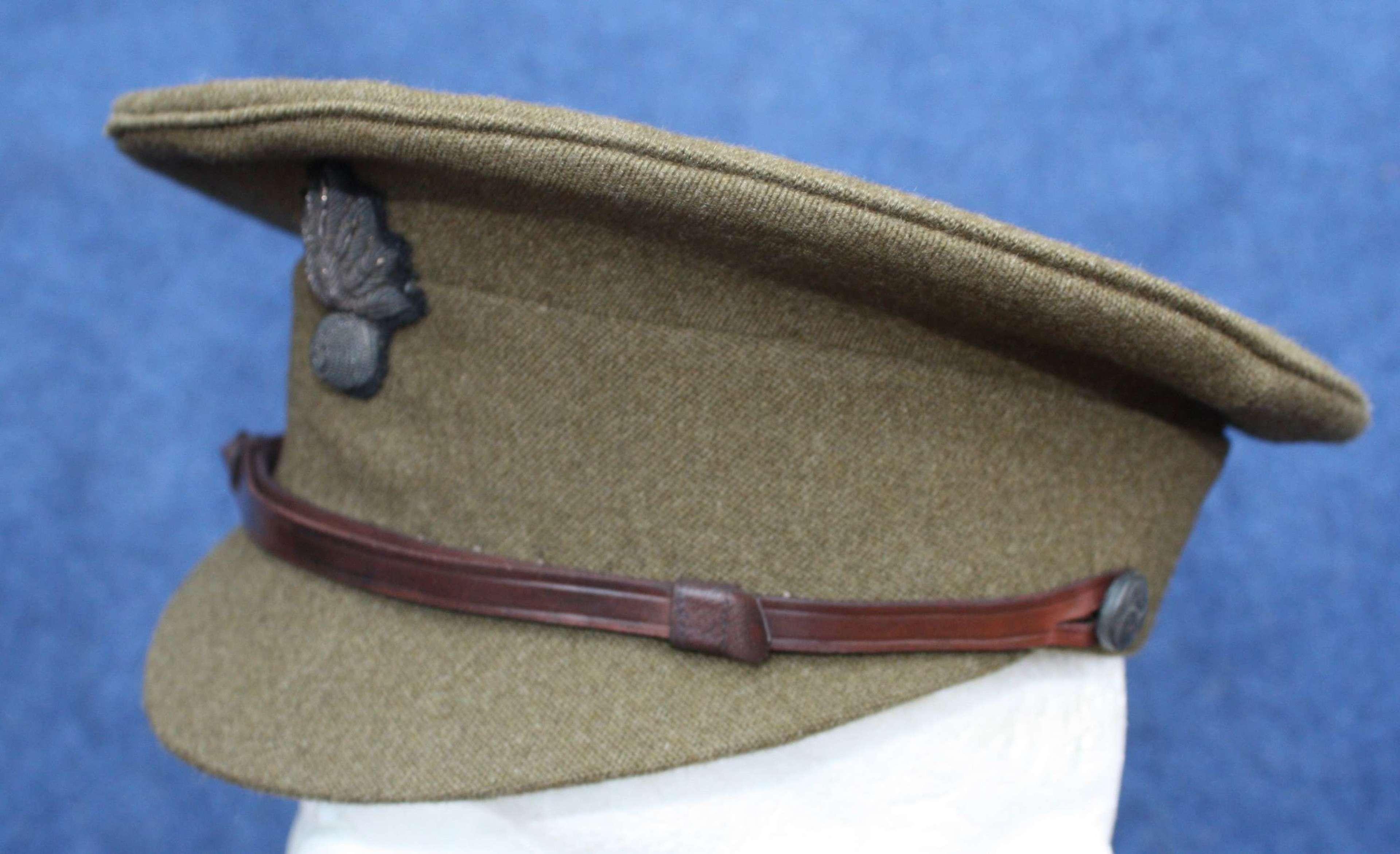 Grenadier Guards WW1 1905 Pattern Officers Khaki Service Dress Cap.