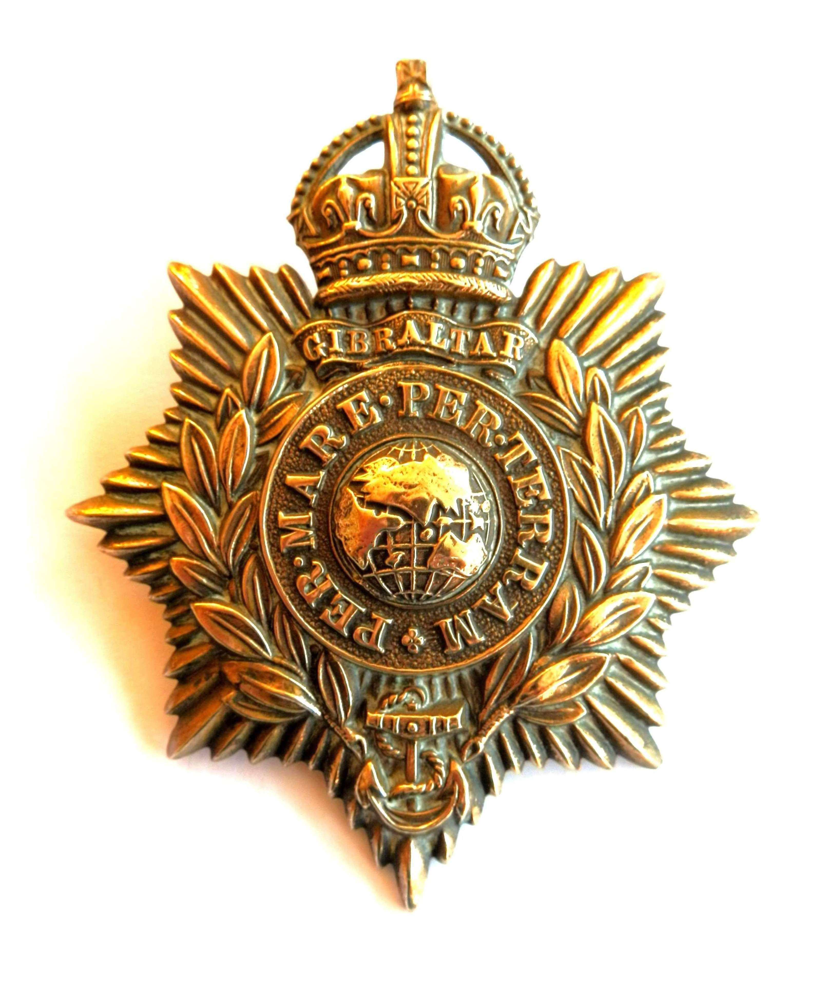 Royal Marines Helmet Plate.