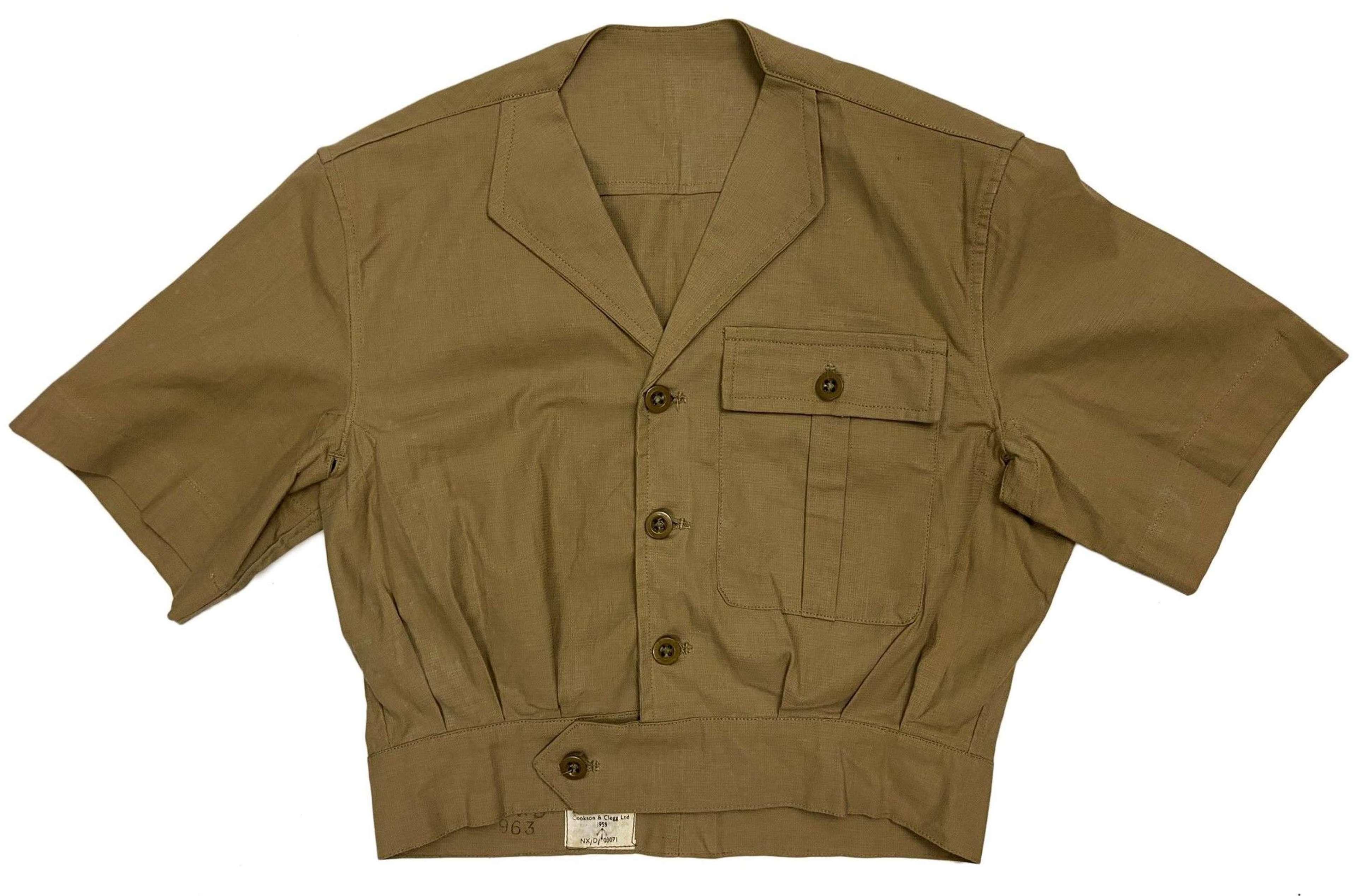 Original 1959 Dated RAF Khaki Drill Combination Suit Jacket - Size 2
