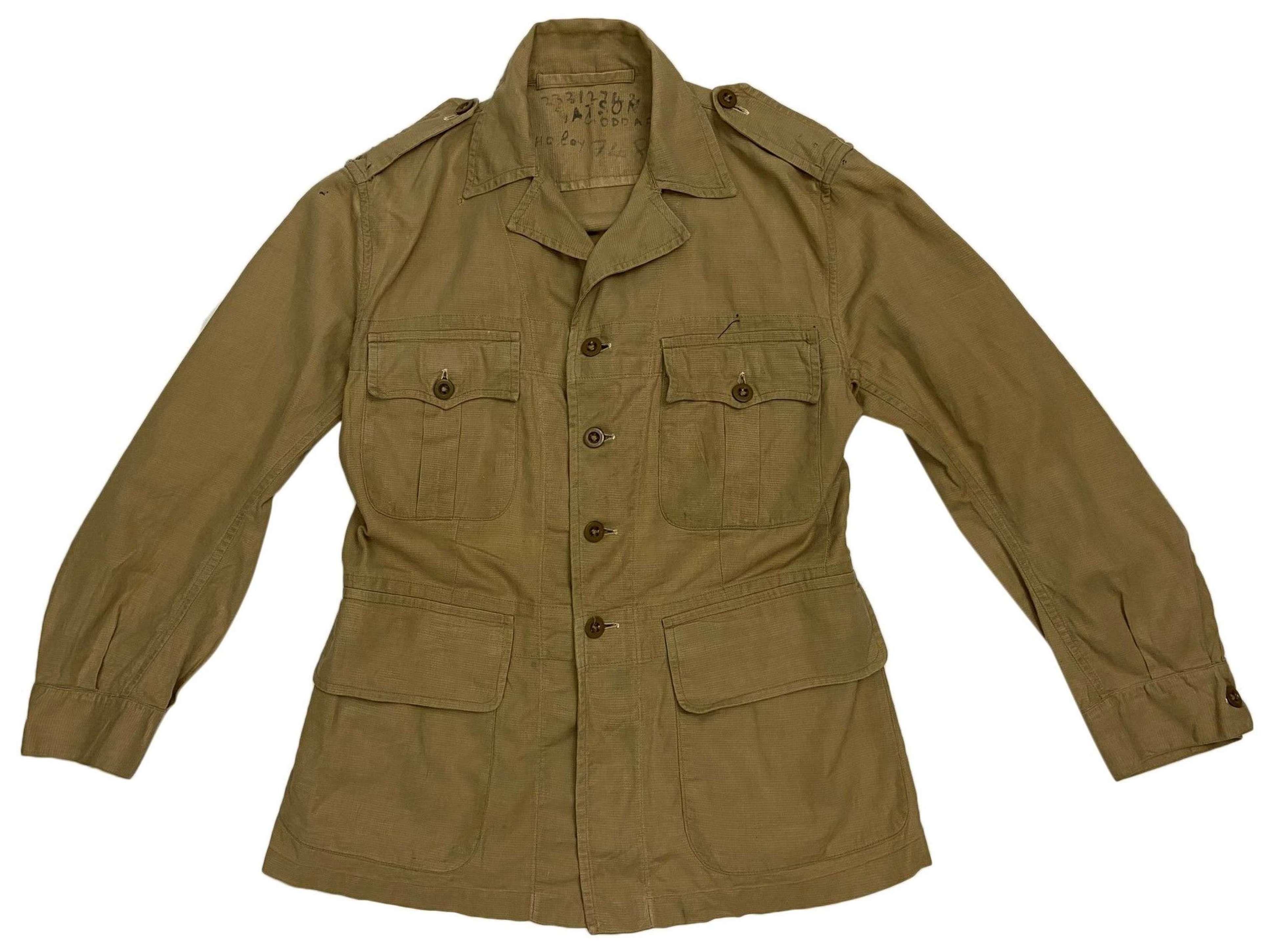 Original 1953 Dated British 1950 Pattern Bush Jacket - Size 5