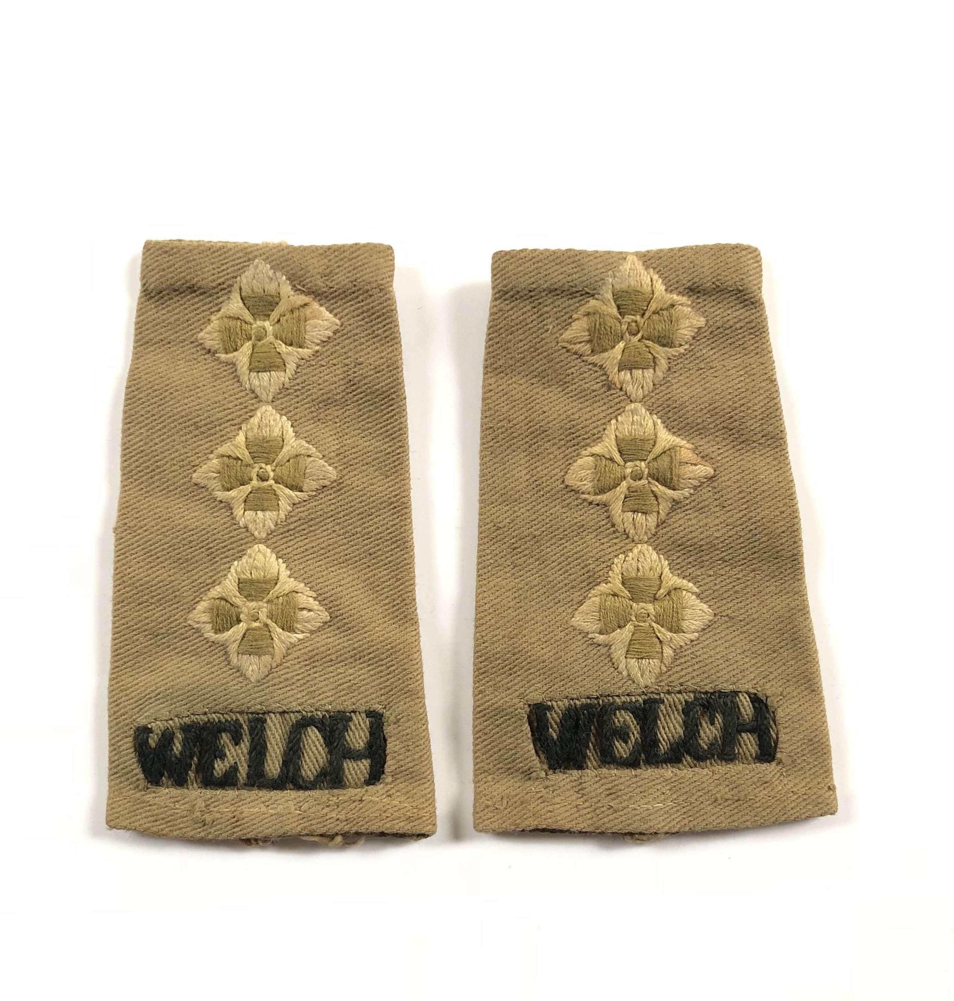 WW2 Welch Regiment KD Captain Rank Slip On Rank.