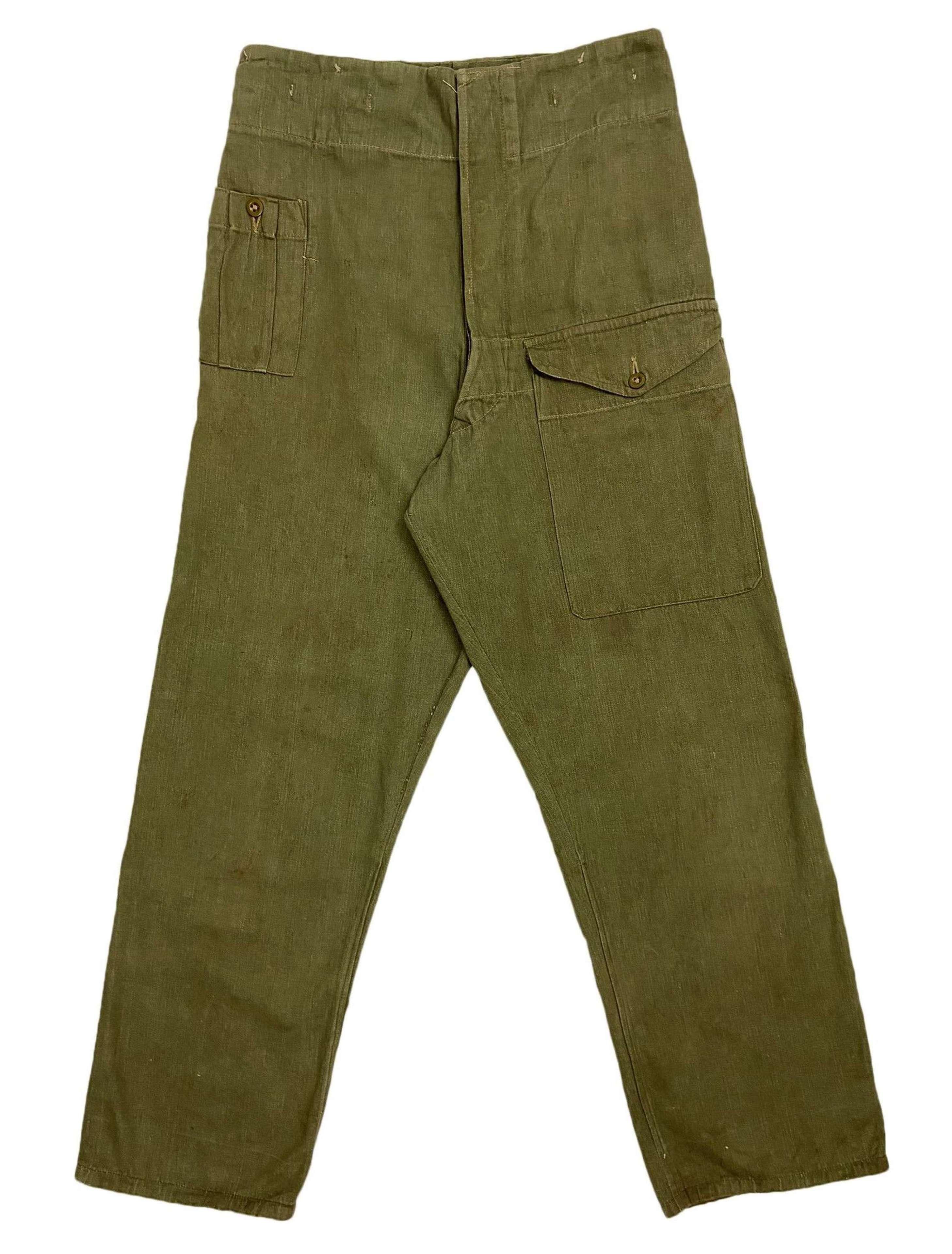 Original British Army Denim Battledress Trousers