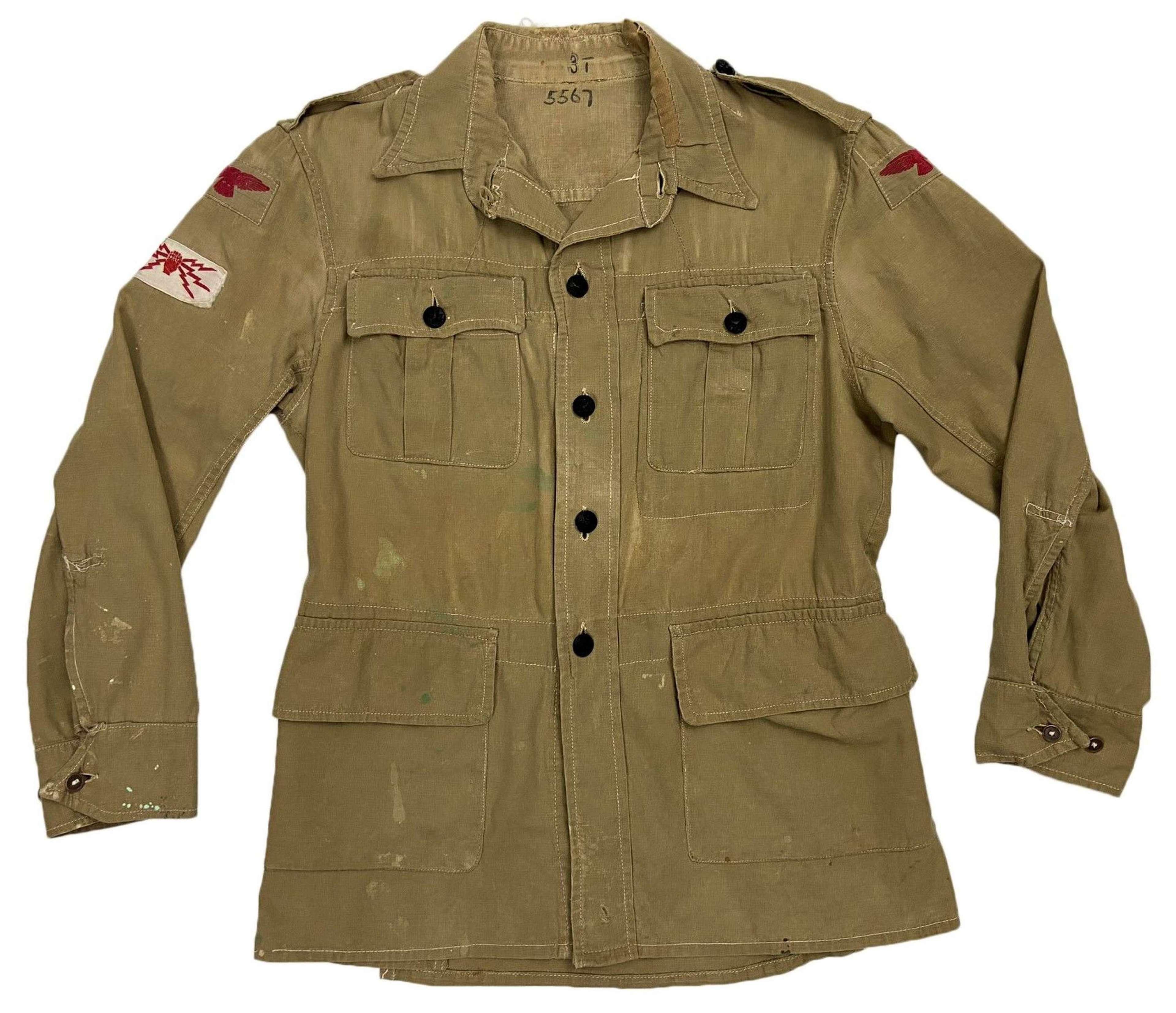 Original 1945 Dated RAF Khaki Drill Bush Jacket - Size 6