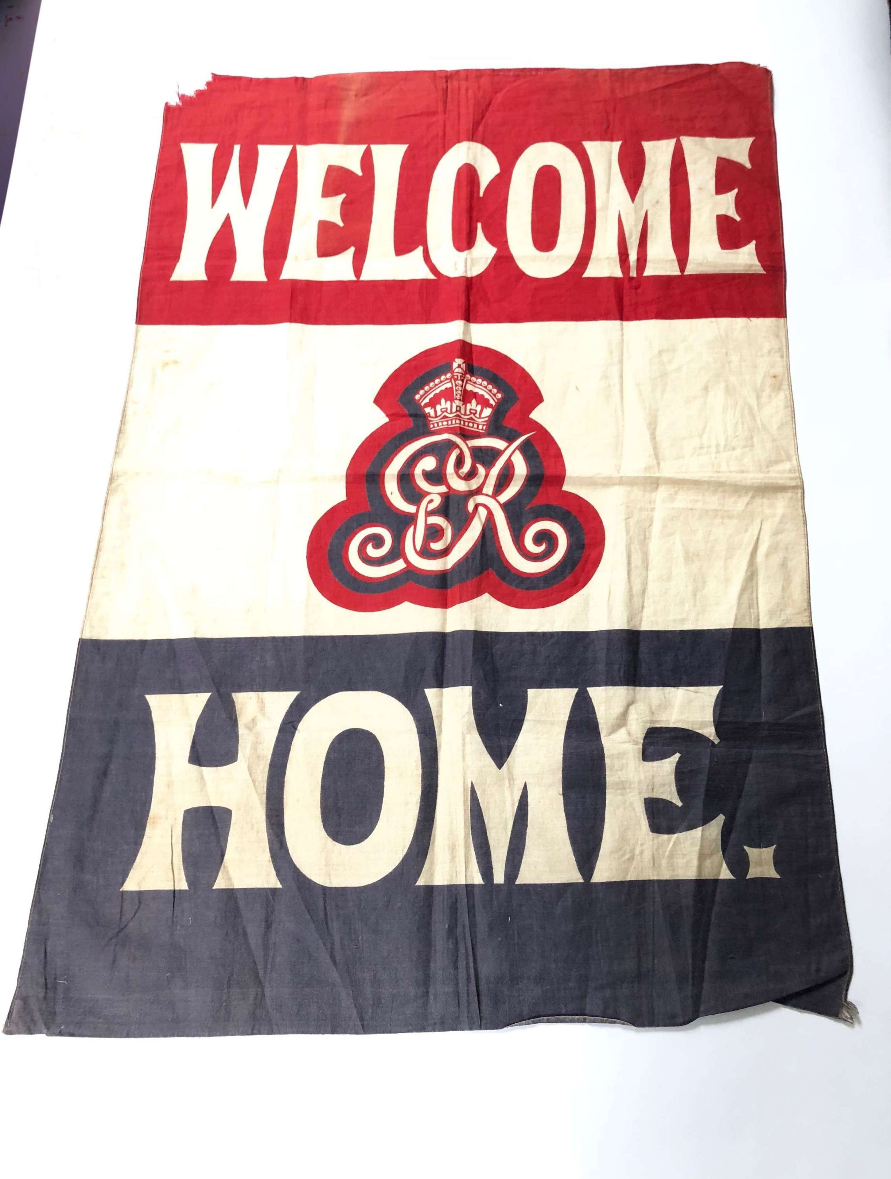 WW1 Period WELCOME HOME Flag.