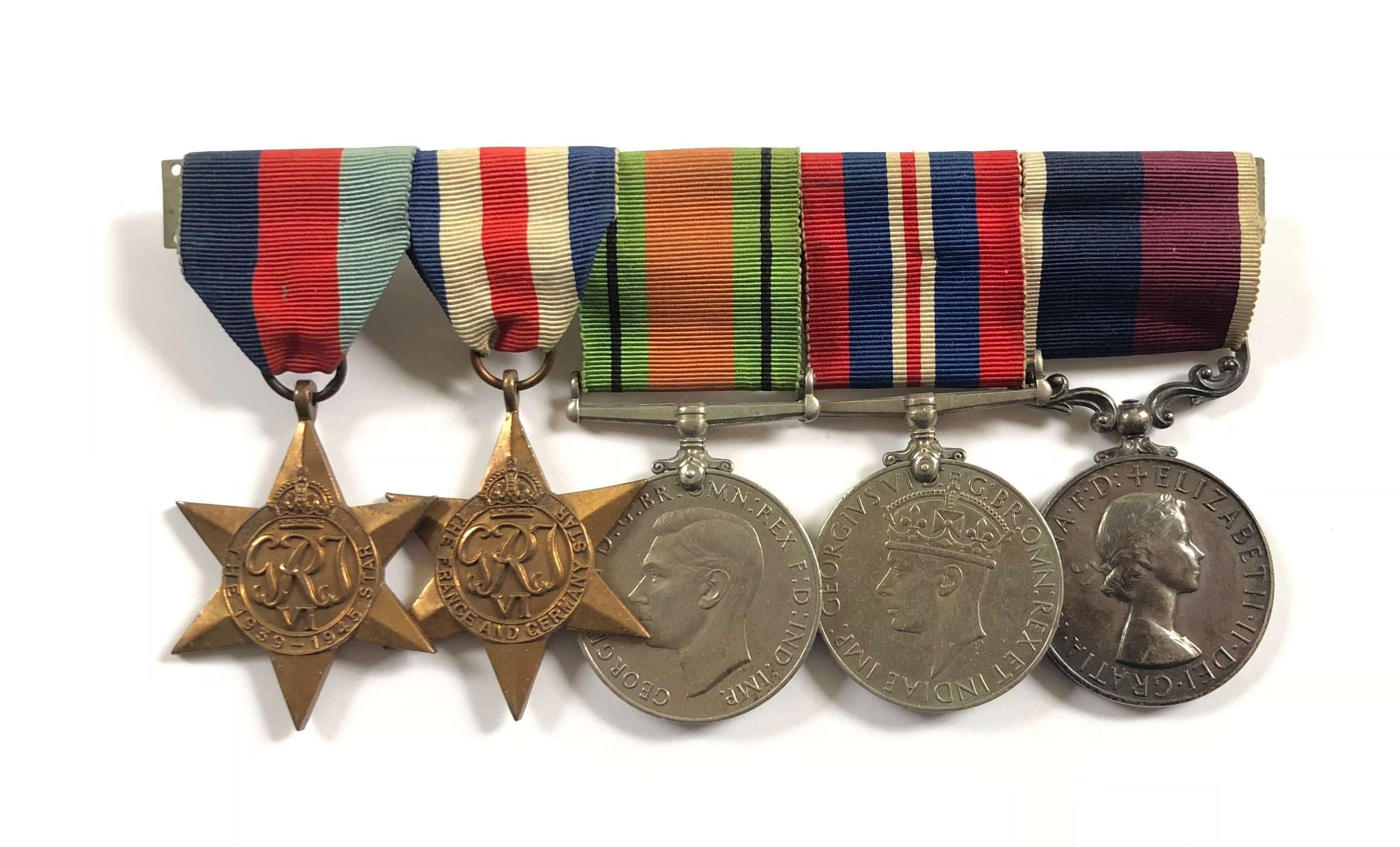 WW2 RAF Long Service Group of Five Medals.