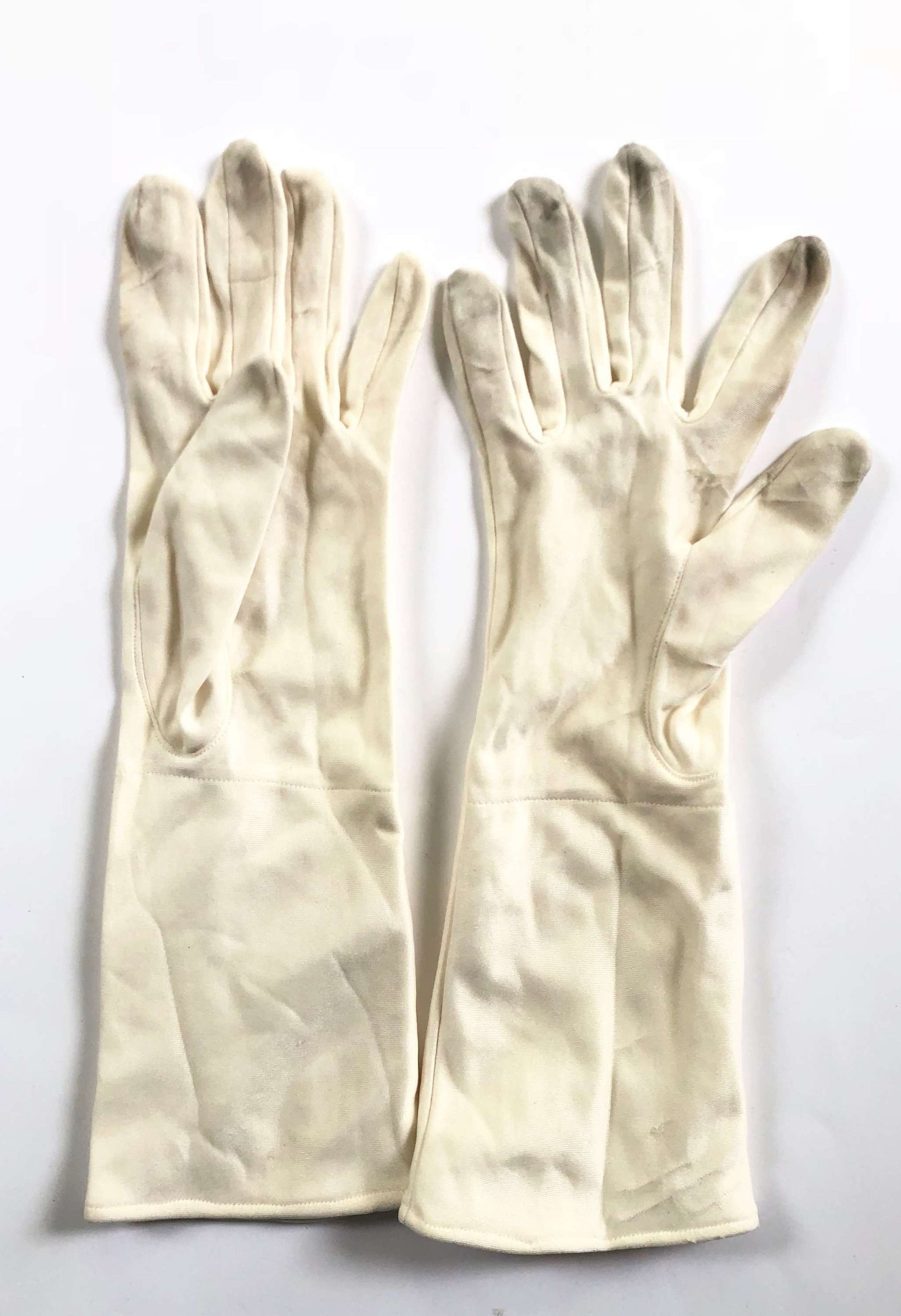 RAF WW2 Gold War Aircrew Issue Silk Gloves.
