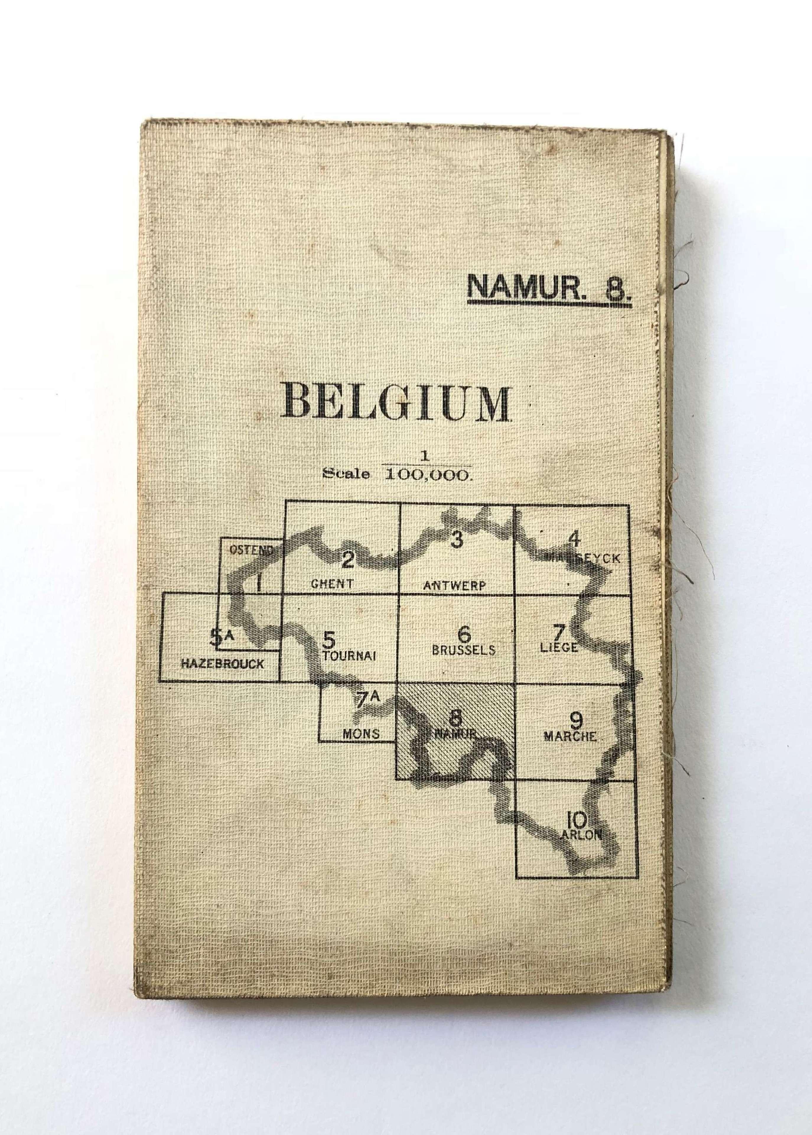 WW1 British Army Issue Map Belgium.