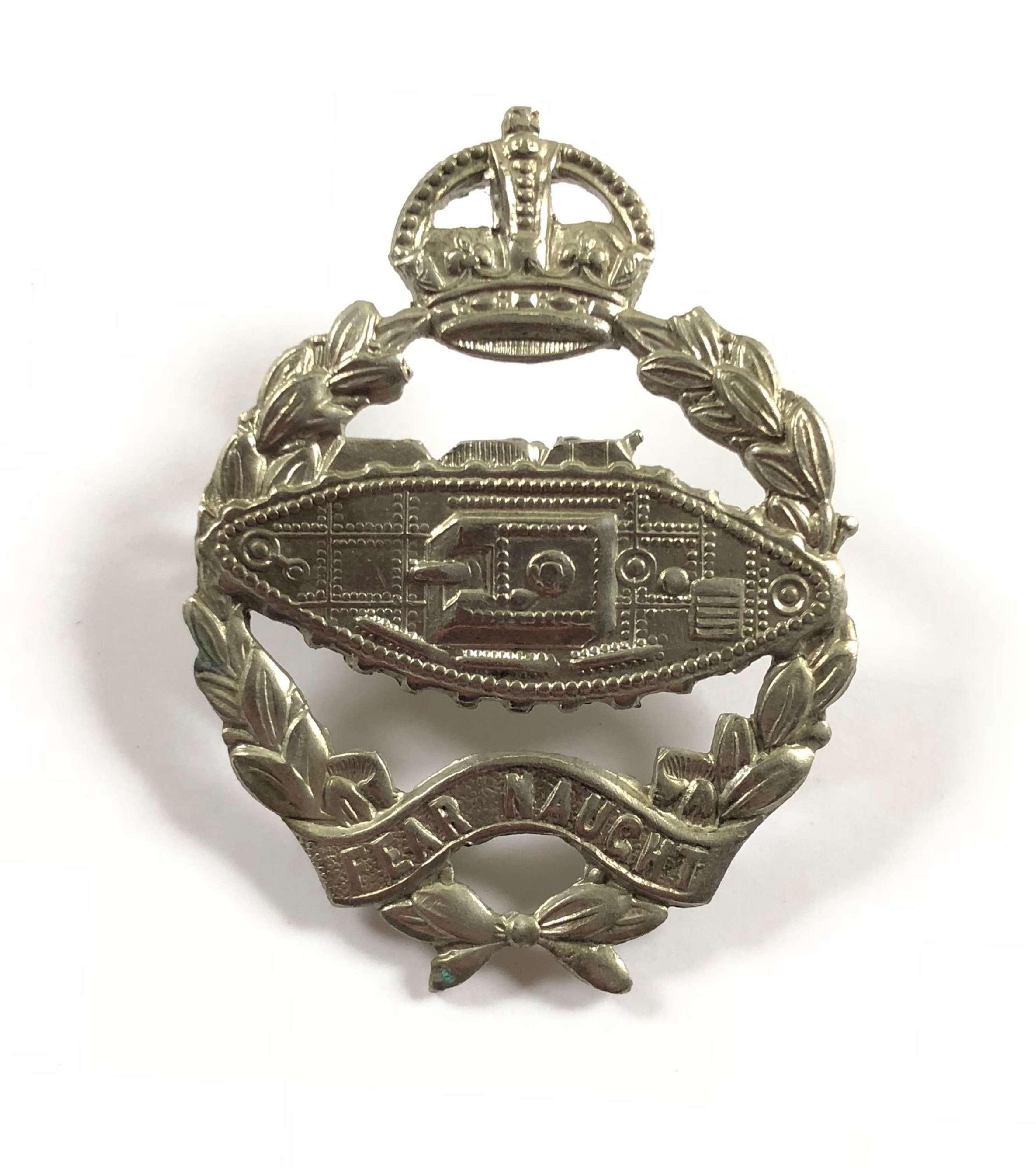 WW2 Royal Tank Regiment Cap Badge.