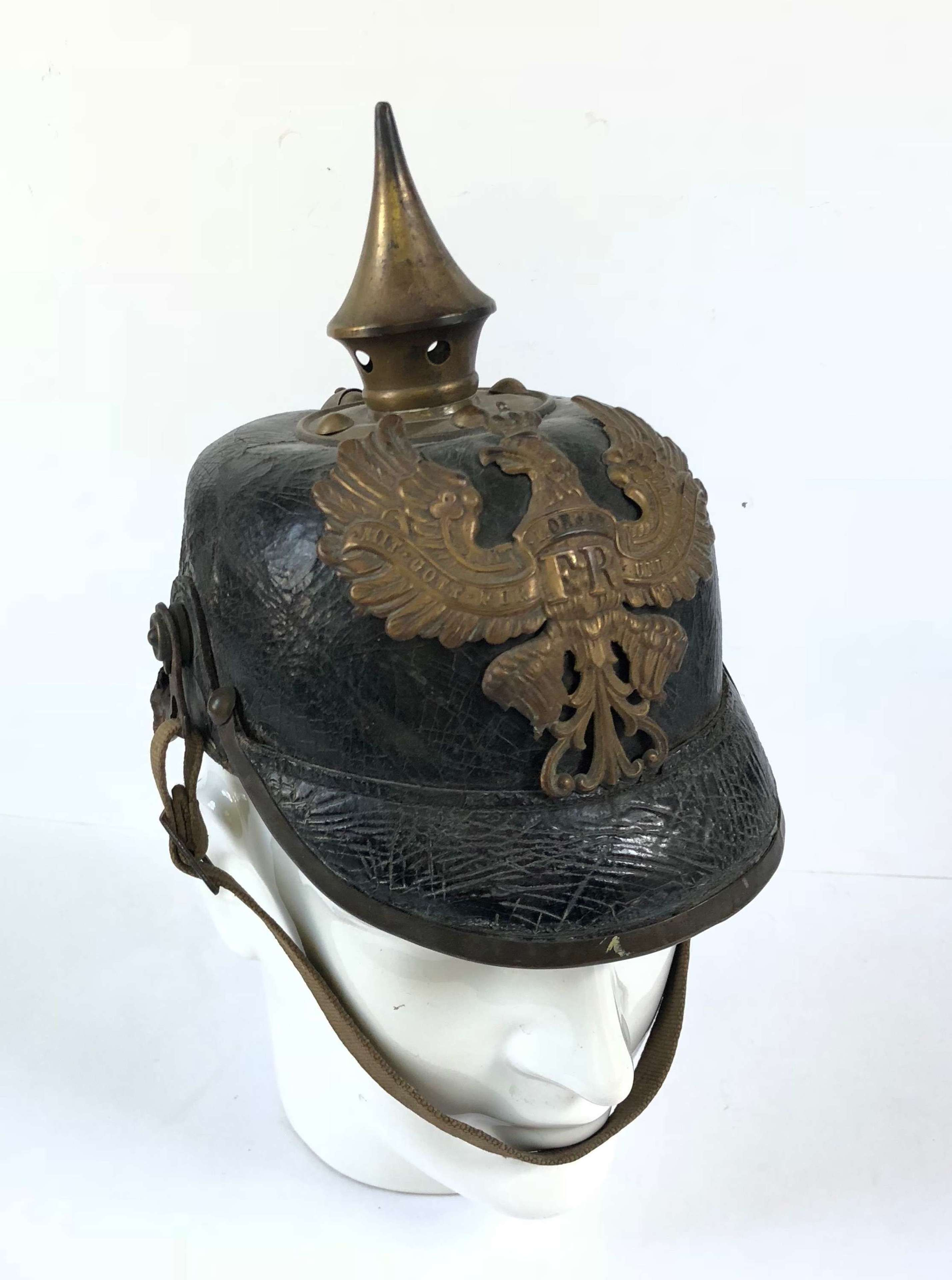 """WW1 Prussian """"Bring Home"""" Other Rank's Pickelhaube."""