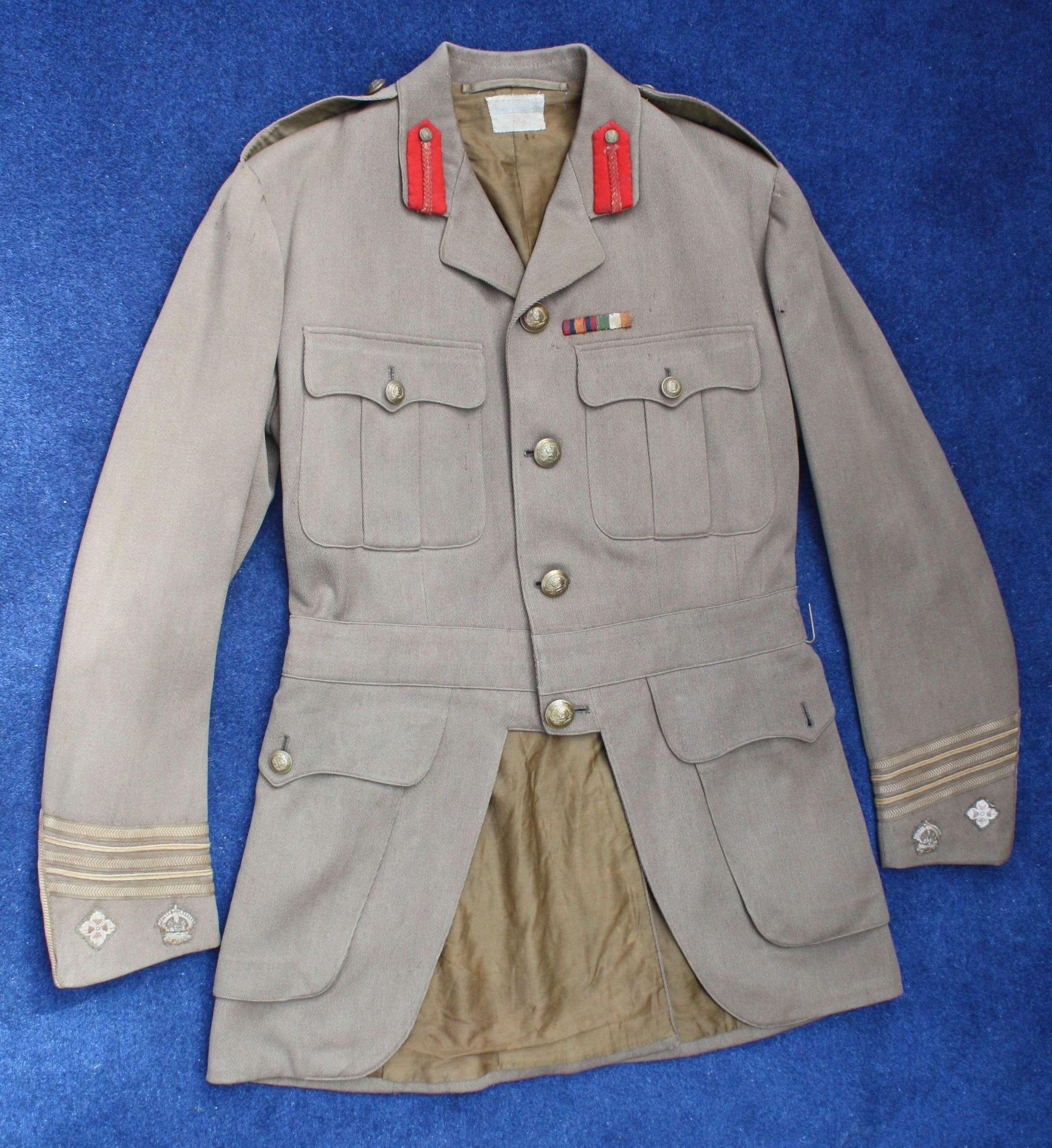 WW1 BRITISH ARMY CUFF RANK TUNIC GORDON HIGHLANDERS LIEUT COLONEL