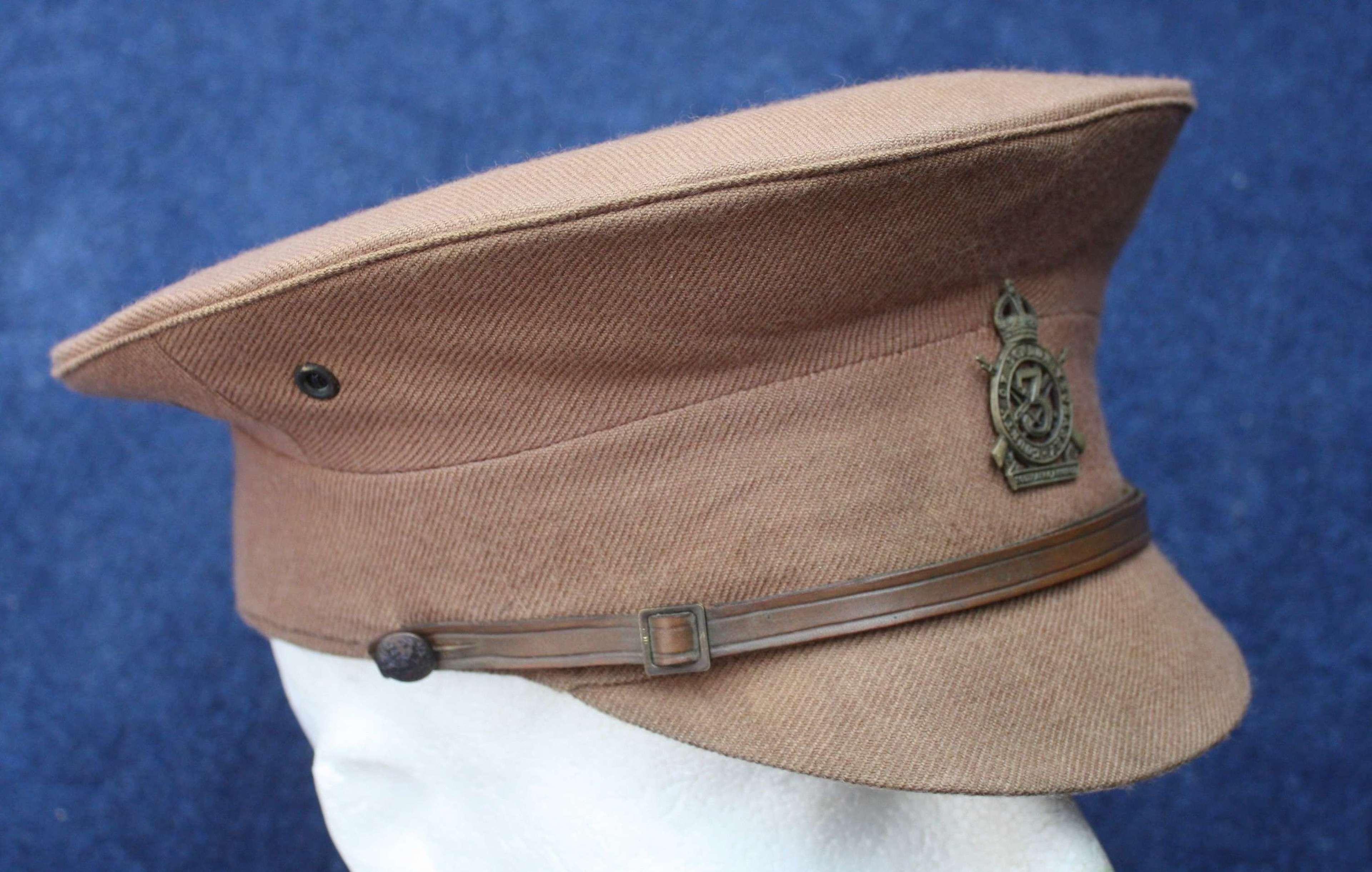1905 Pattern WW1 British O/R 3rd London Yeomanry Service Dress Cap