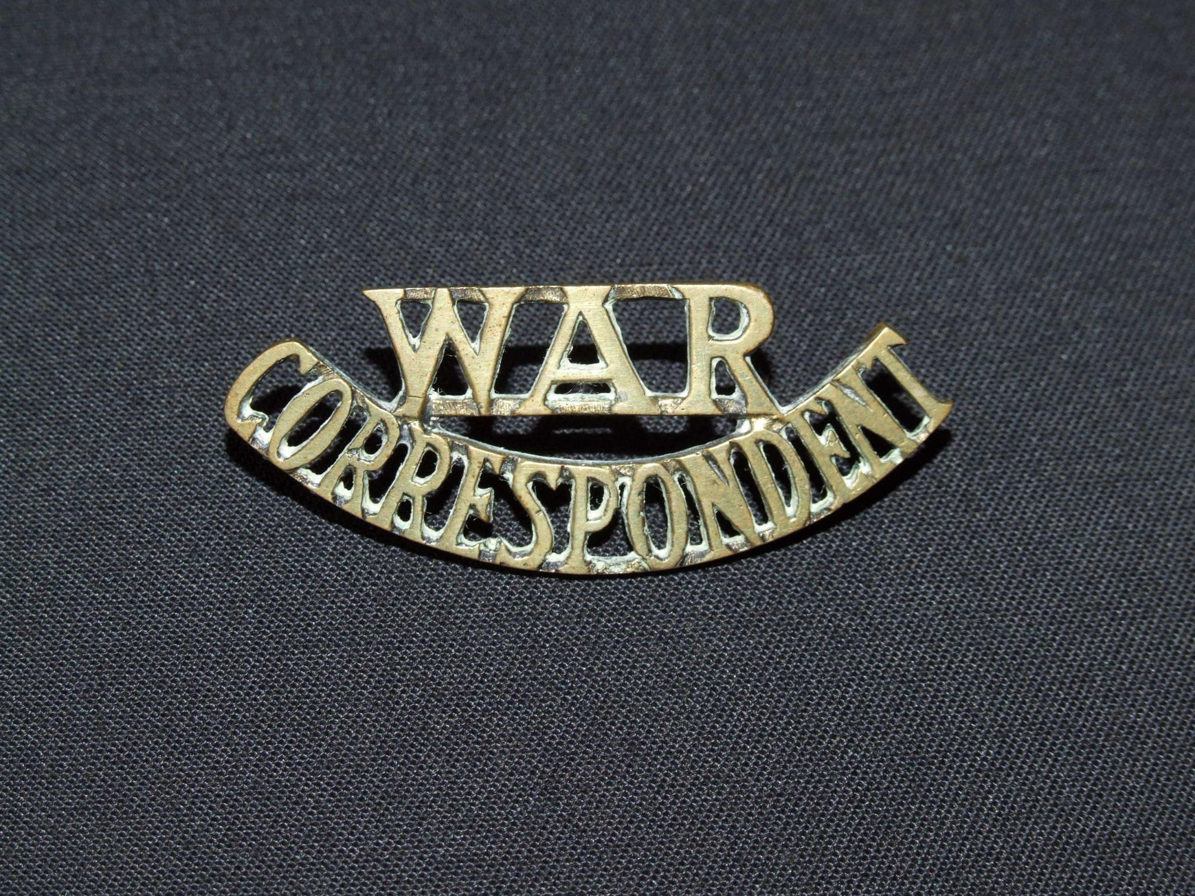War Correspondent Shoulder Title
