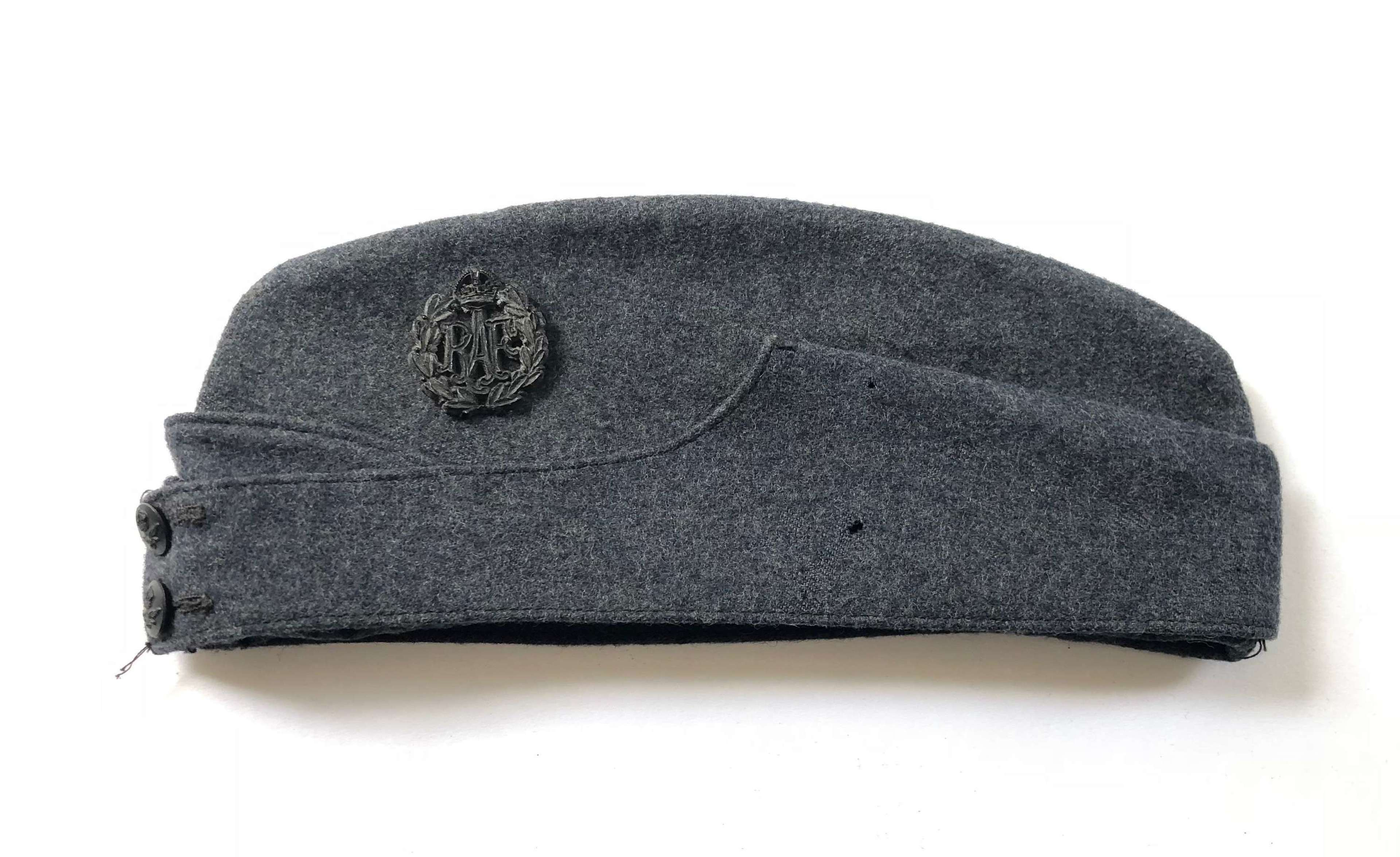 WW2 RAF 1945 Issue Economy Other Rank's Side Cap.