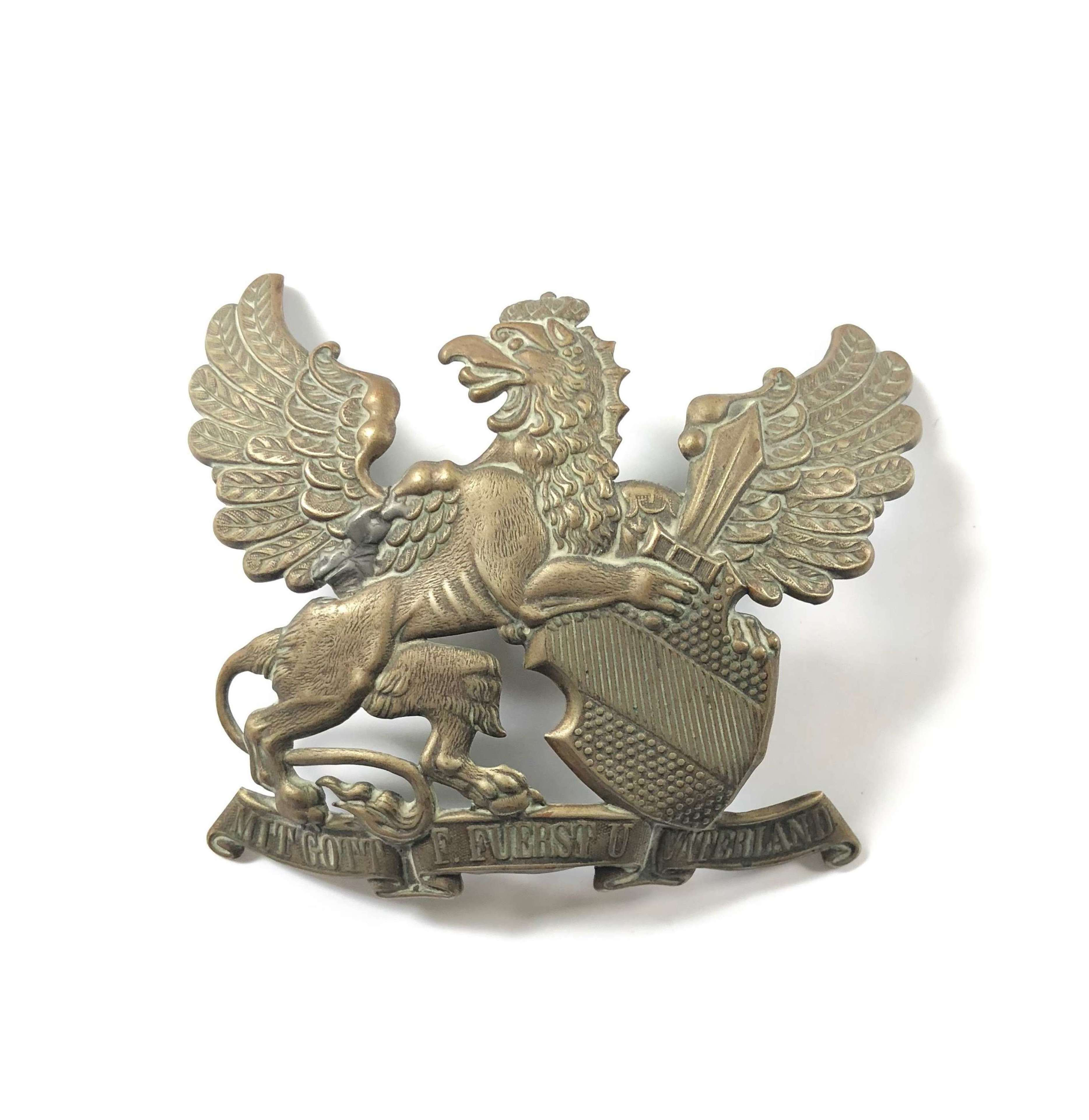 WW1 Imperial German Badan Pickelhaube Plate
