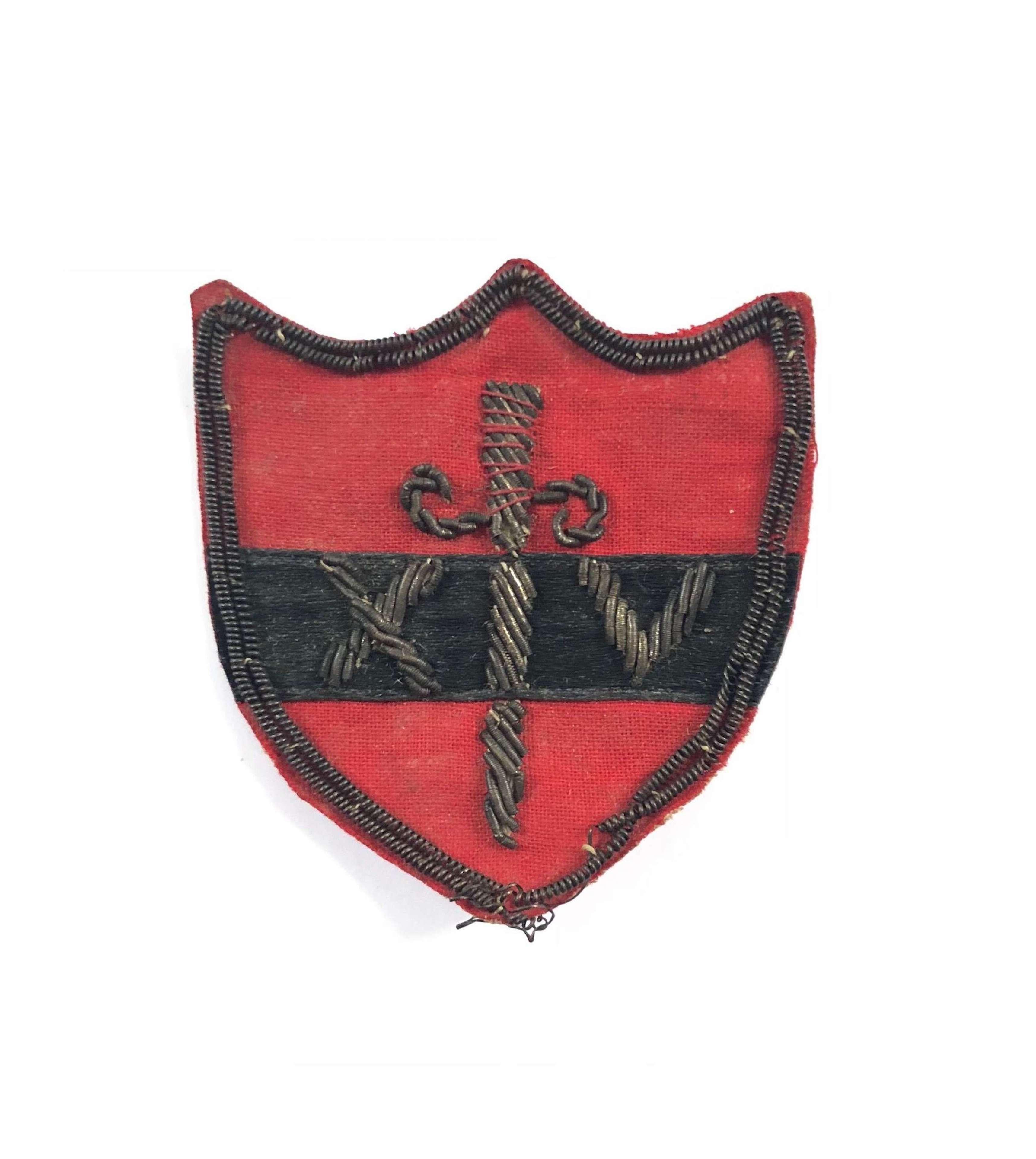 WW2 14th Army Officer's Formation Cloth Badge