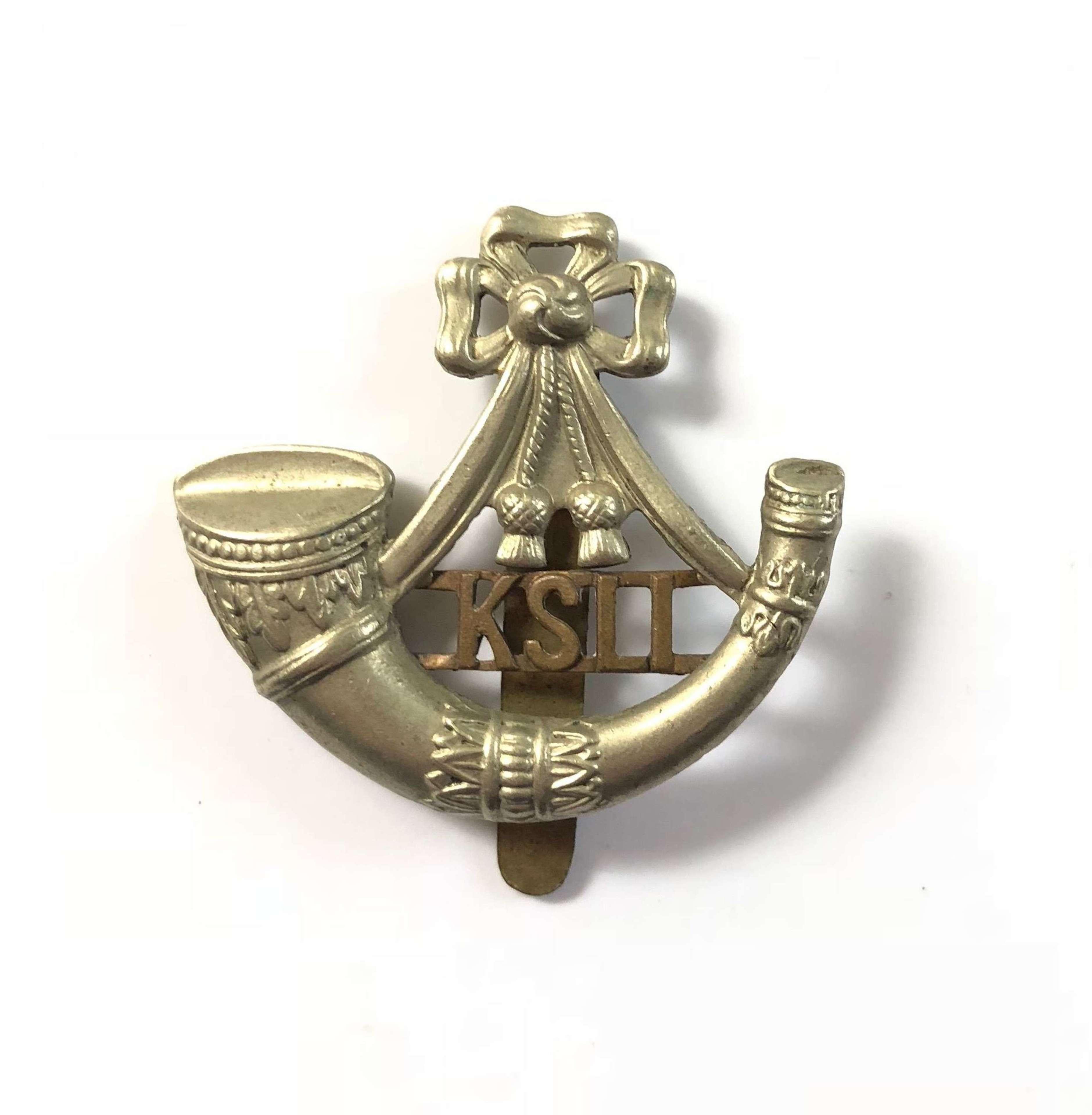WW1/ WW2 King's Shropshire Light Infantry KSLI Cap Badge.