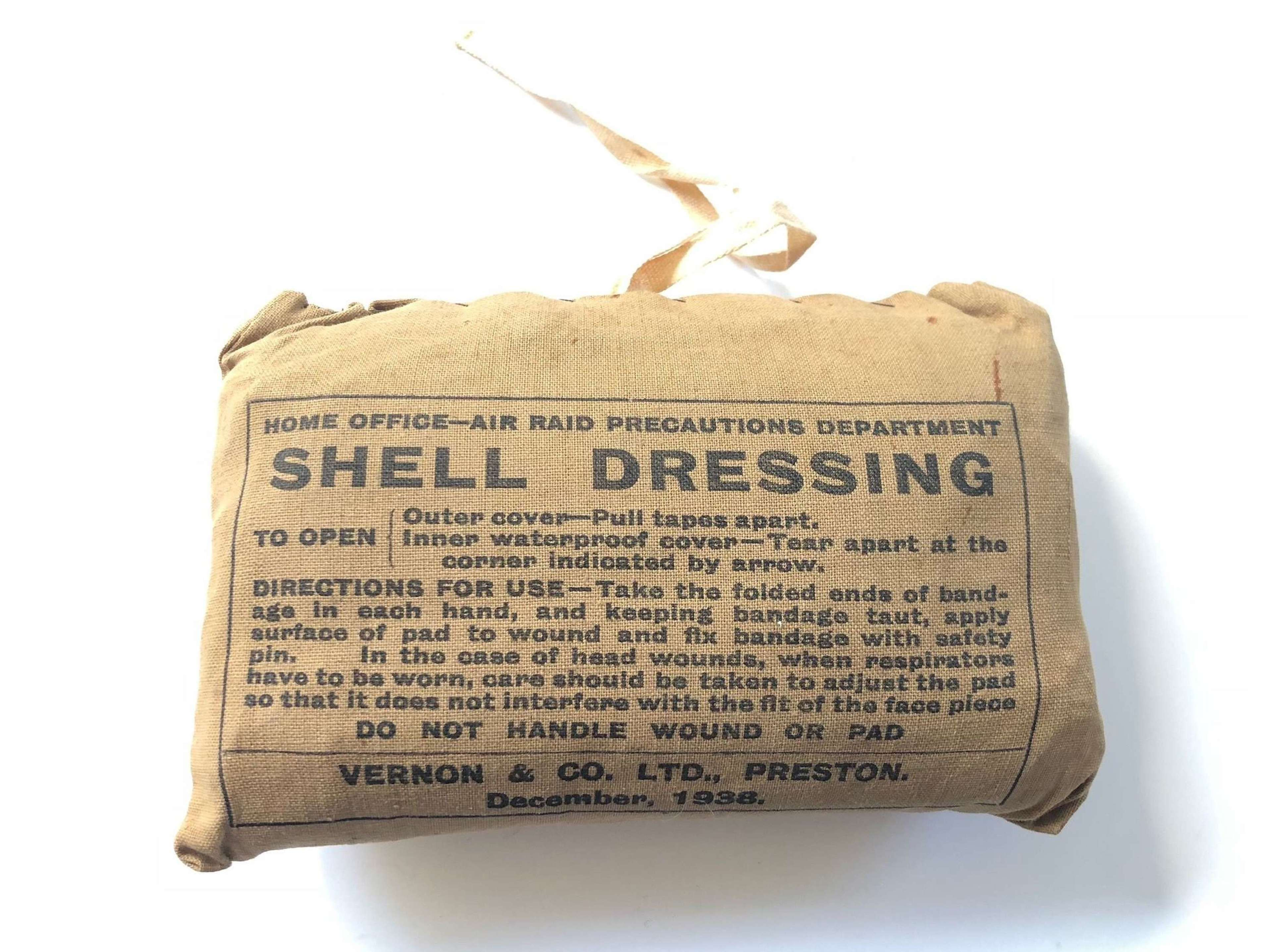 WW2 1938 Home Front ARP Shell Dressing.