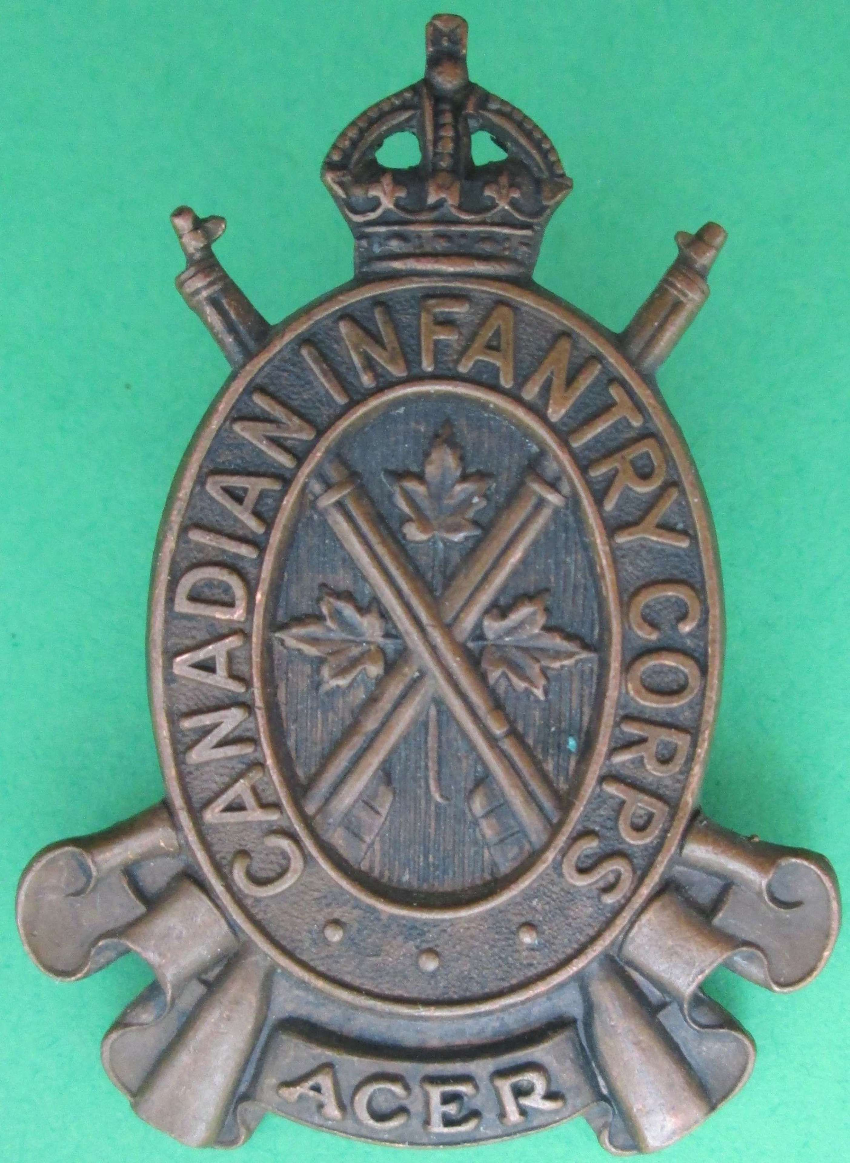A CANADIAN INFANTRY CORPS BADGE