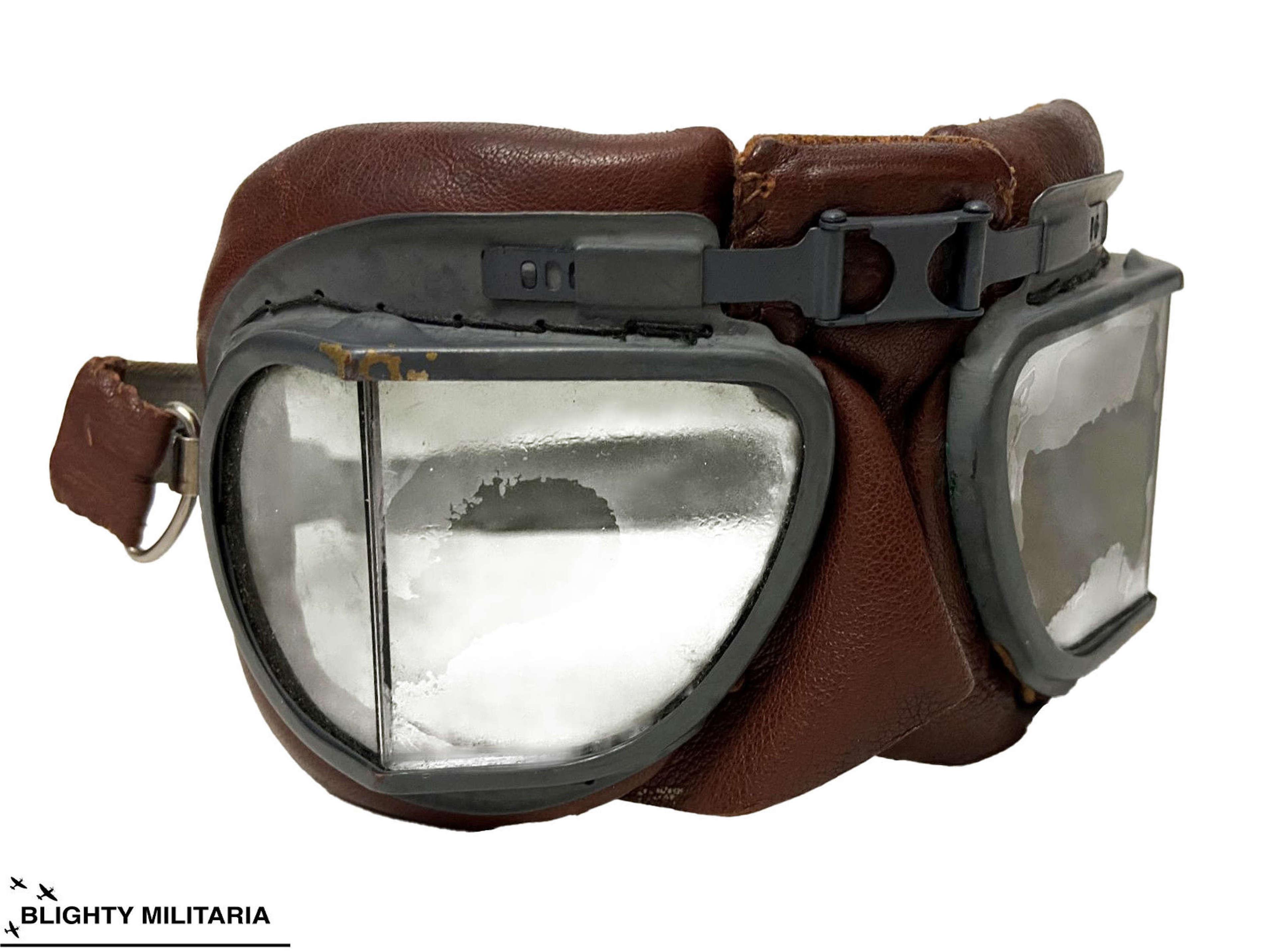 Original WW2 RAF MK VIII Flying Goggles - Air Ministry Marked