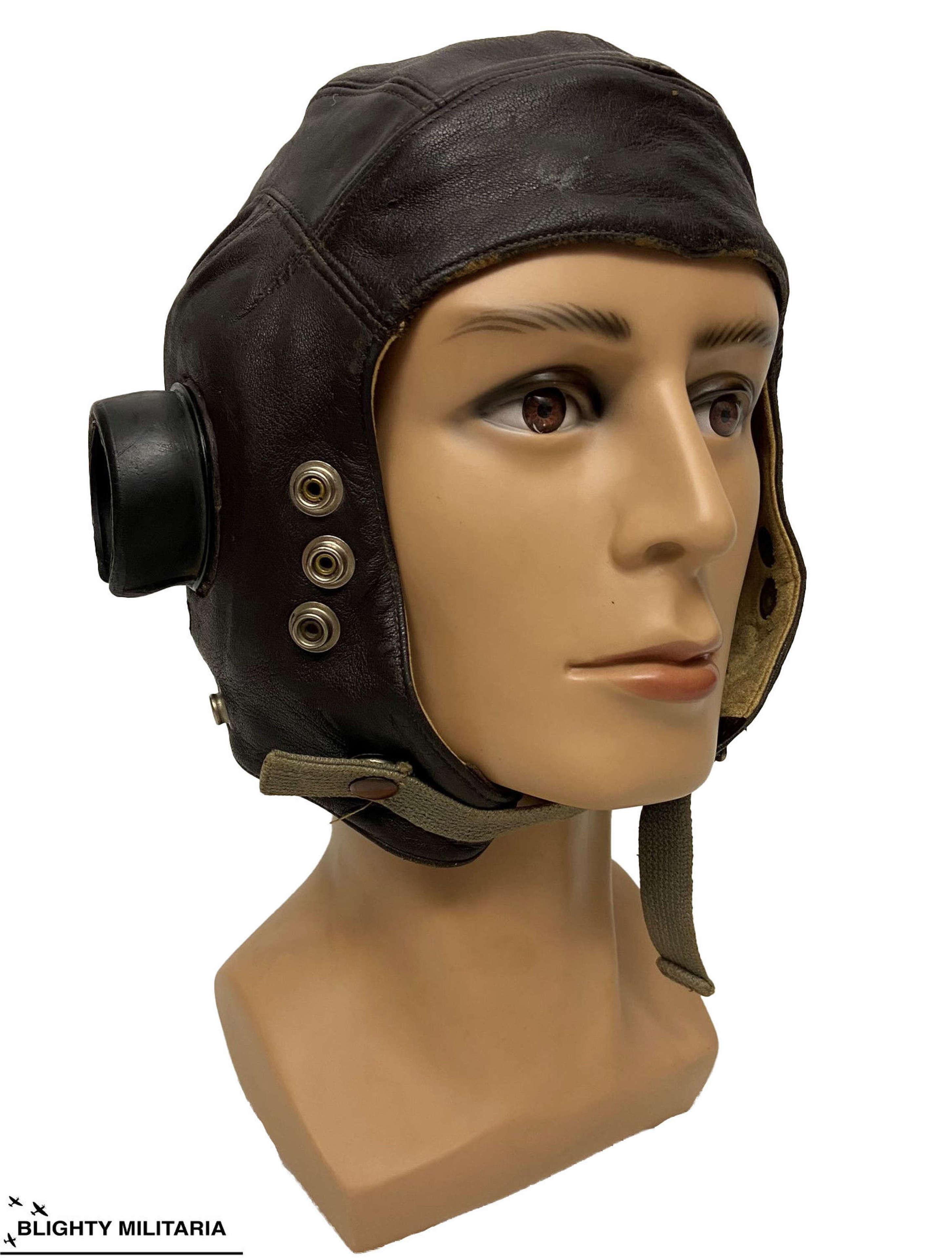 Original WW2 RAF C Type Flying Helmet - Size 3