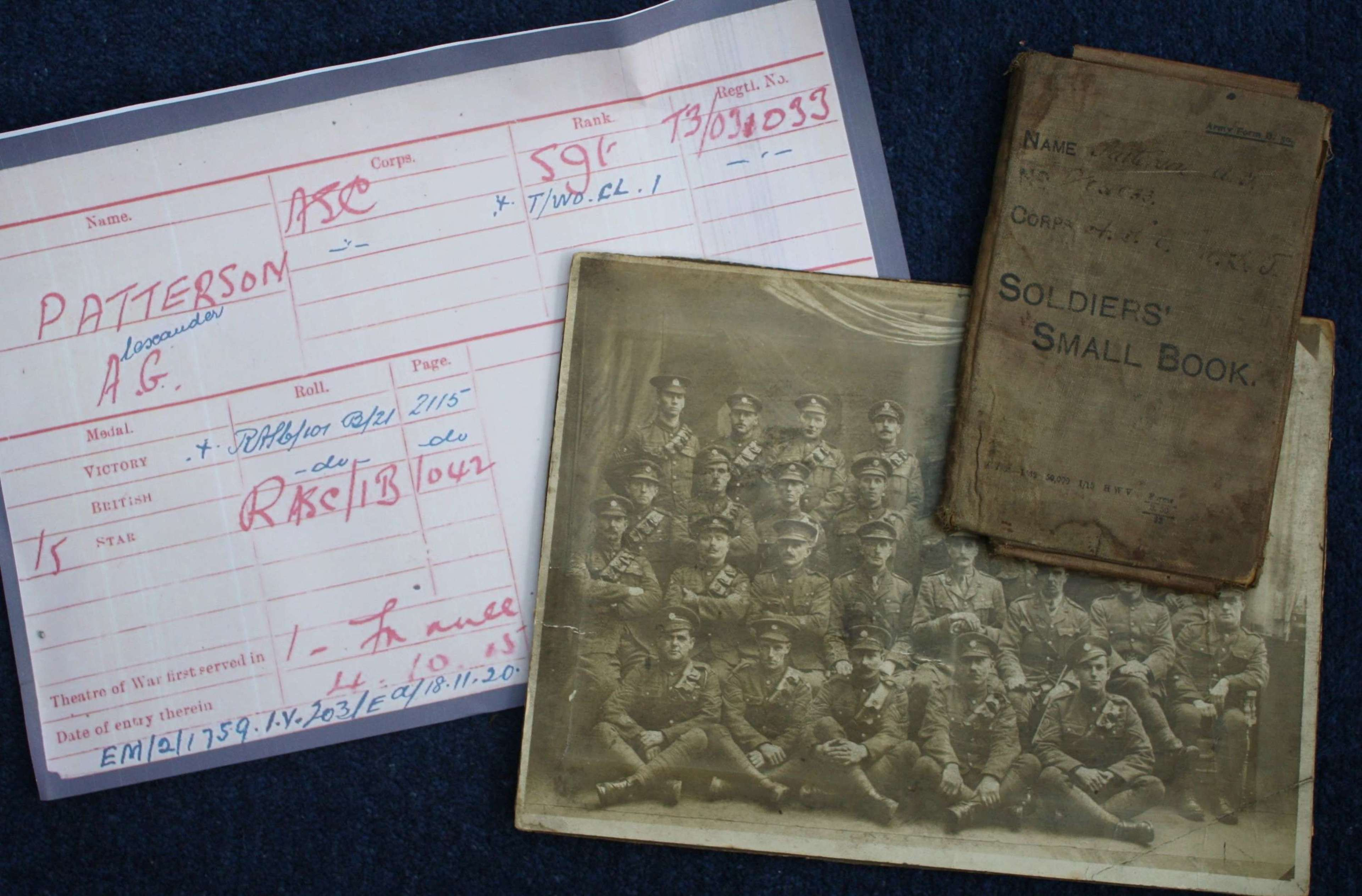 WW1 British Army Pay Book: ASC Alexander Patterson 36th Division !