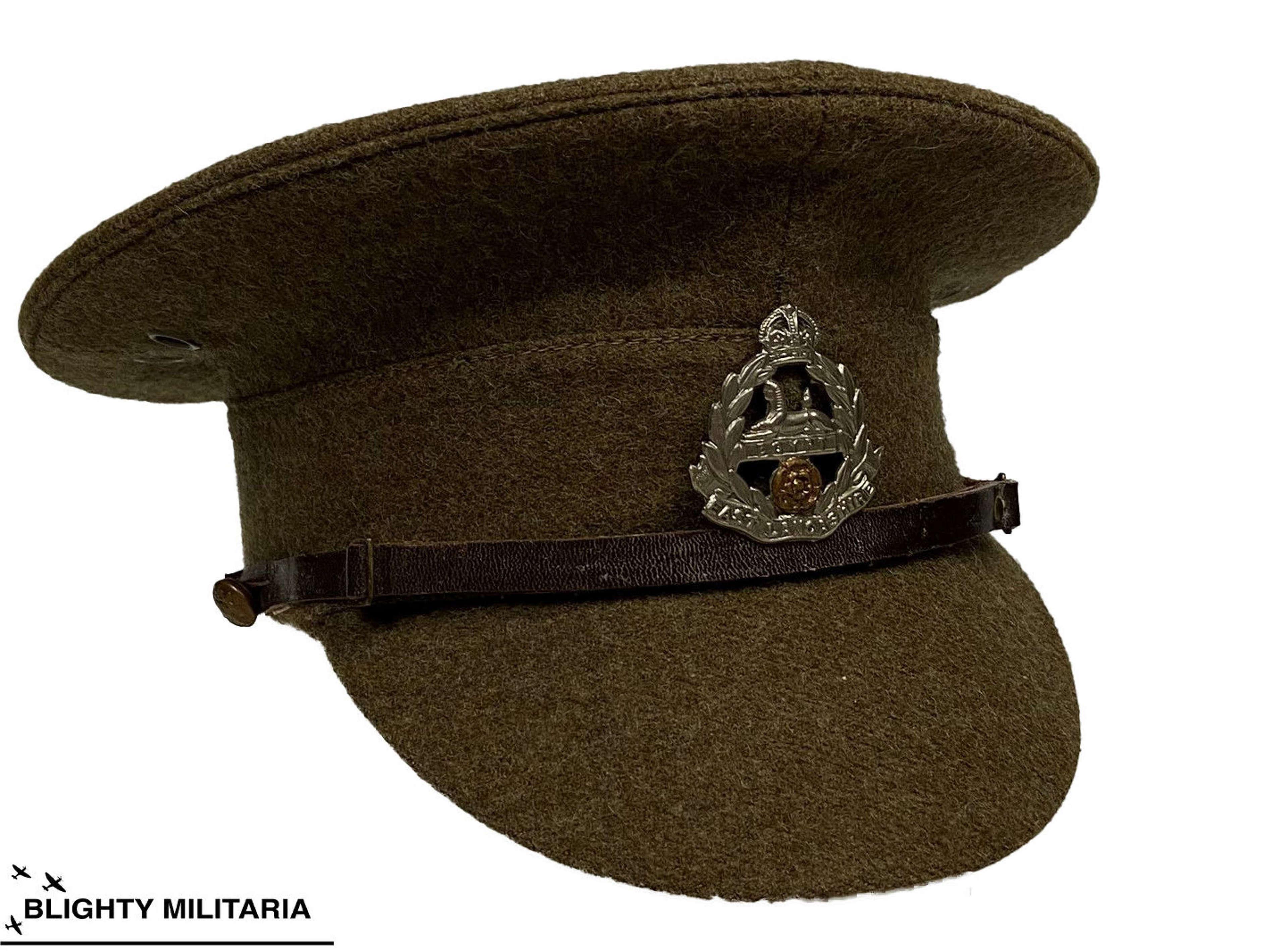 Original British Army 1922 Pattern Service Dress Cap - 6 3/8