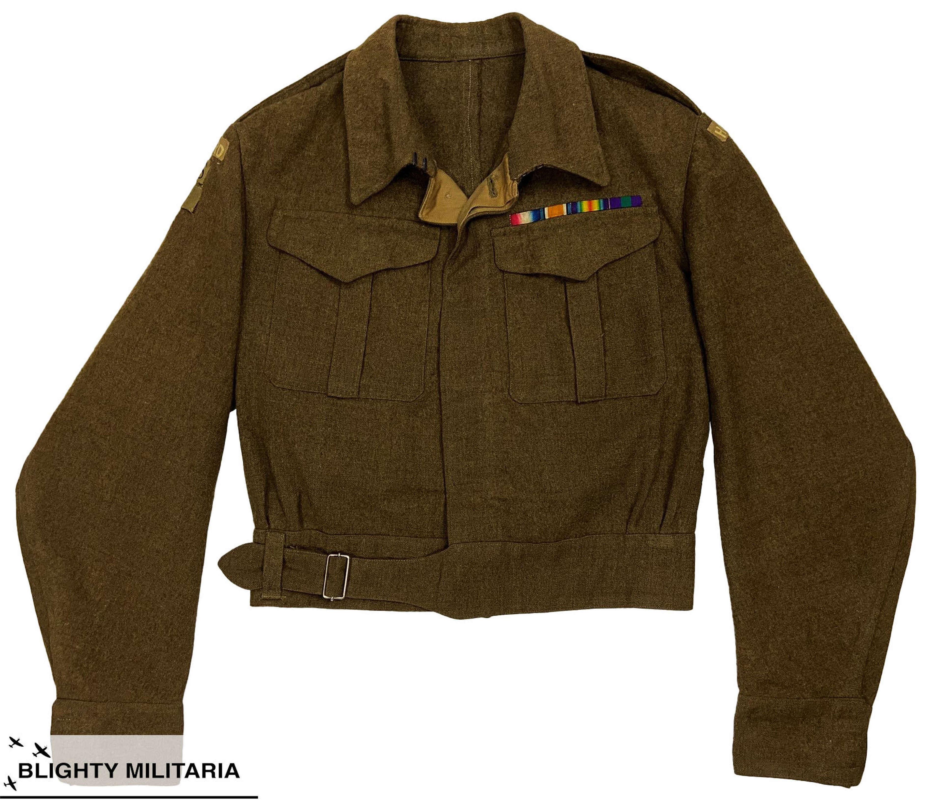 Original Early WW2 British Battledress, Serge Blouse - Home Guard