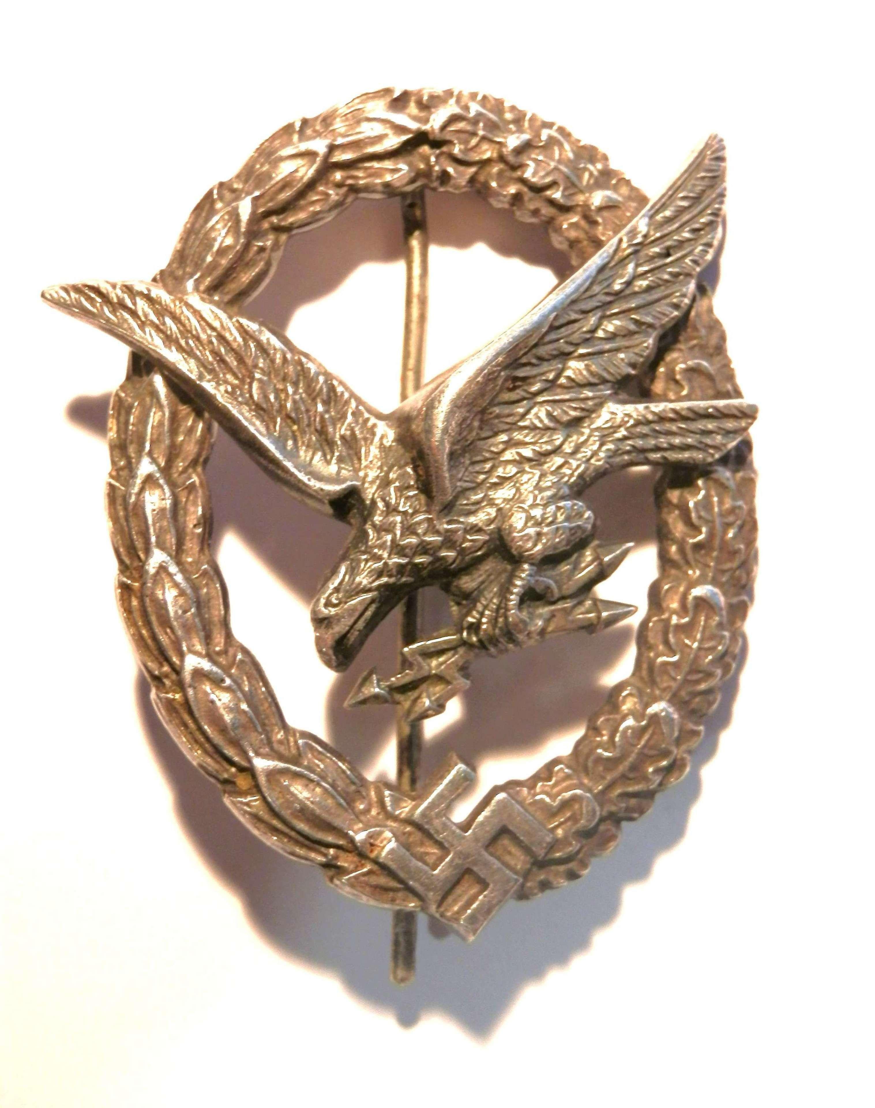 Luftwaffe Radio Operator/Air Gunner's Badge.