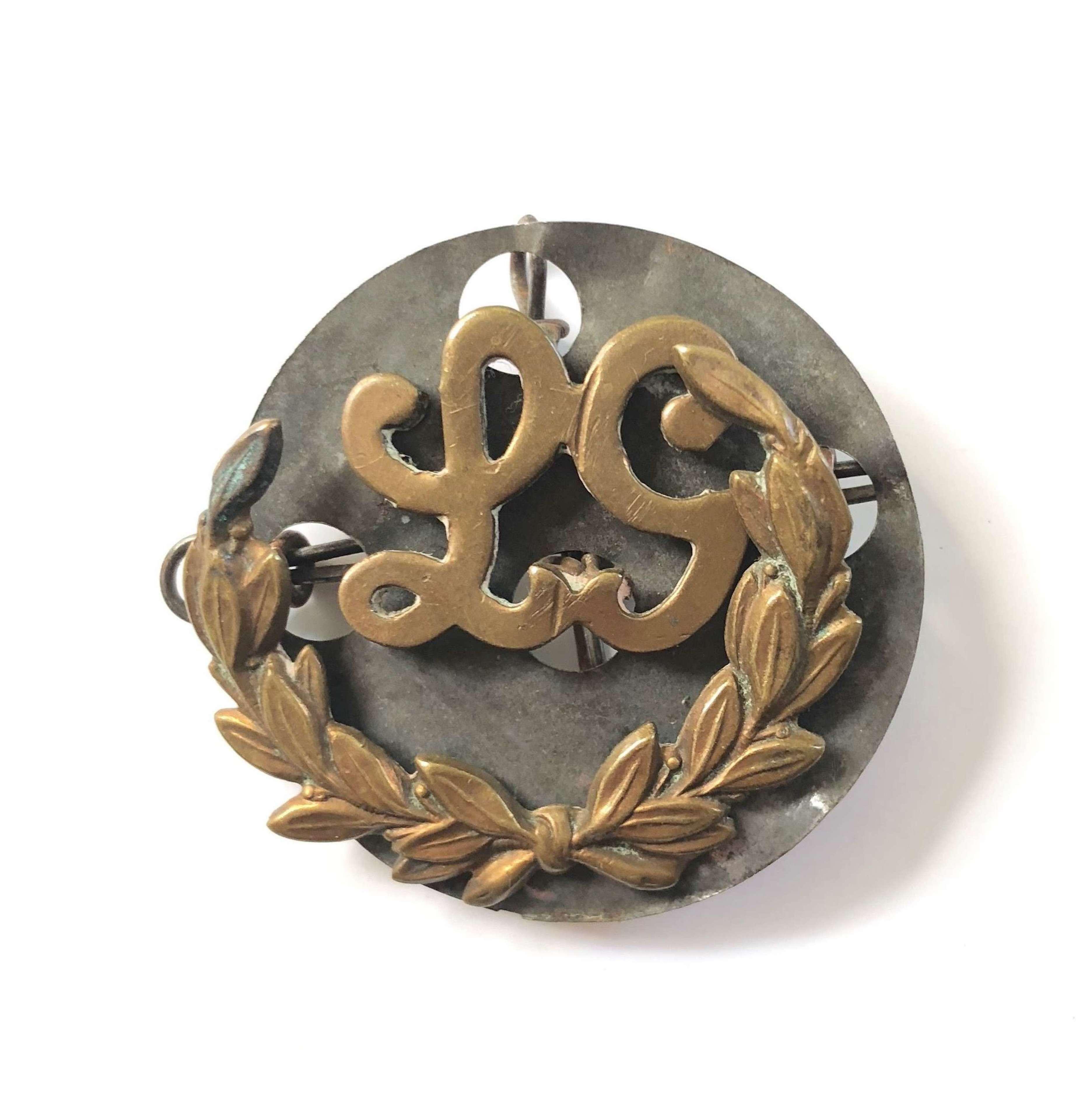 WW1 British Army Lewis Gunner Brass Trade Badge.