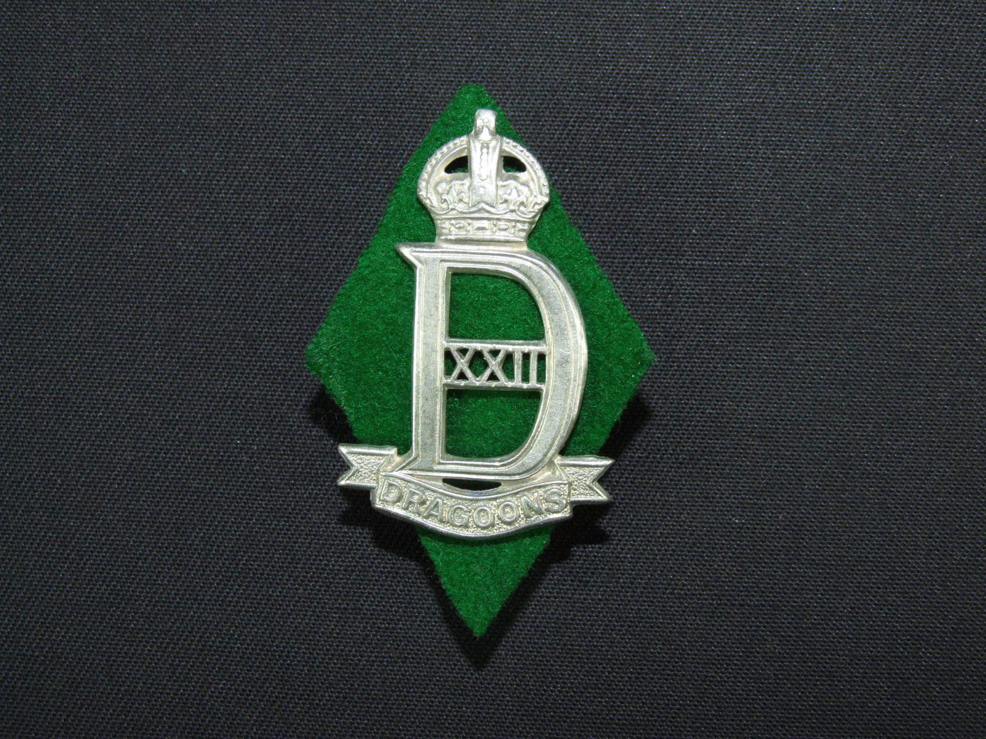 22nd. Dragoons Cap Badge