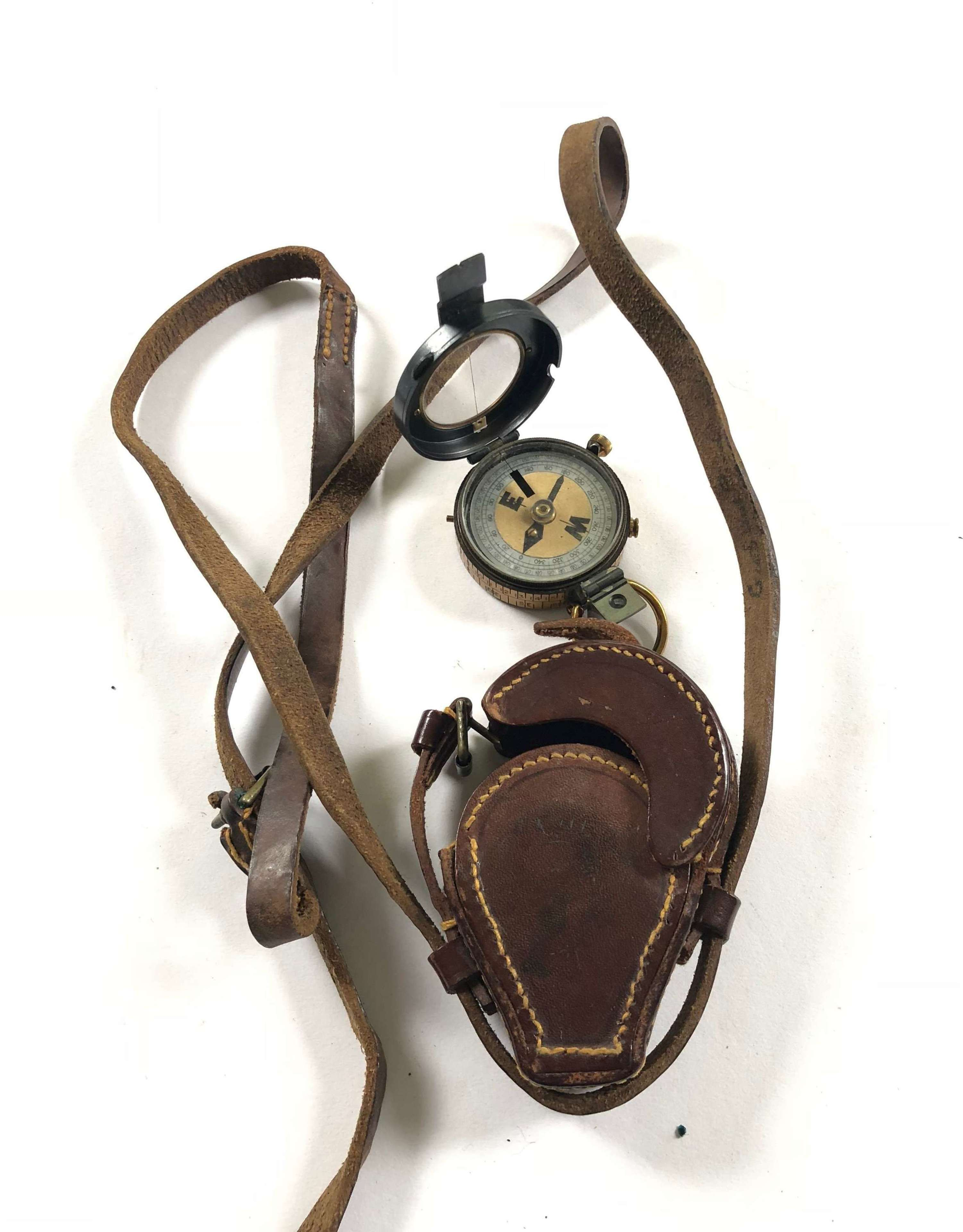 WW1 K.O.Y.L.I Attributed Casualty Officers Marching Field Compass.