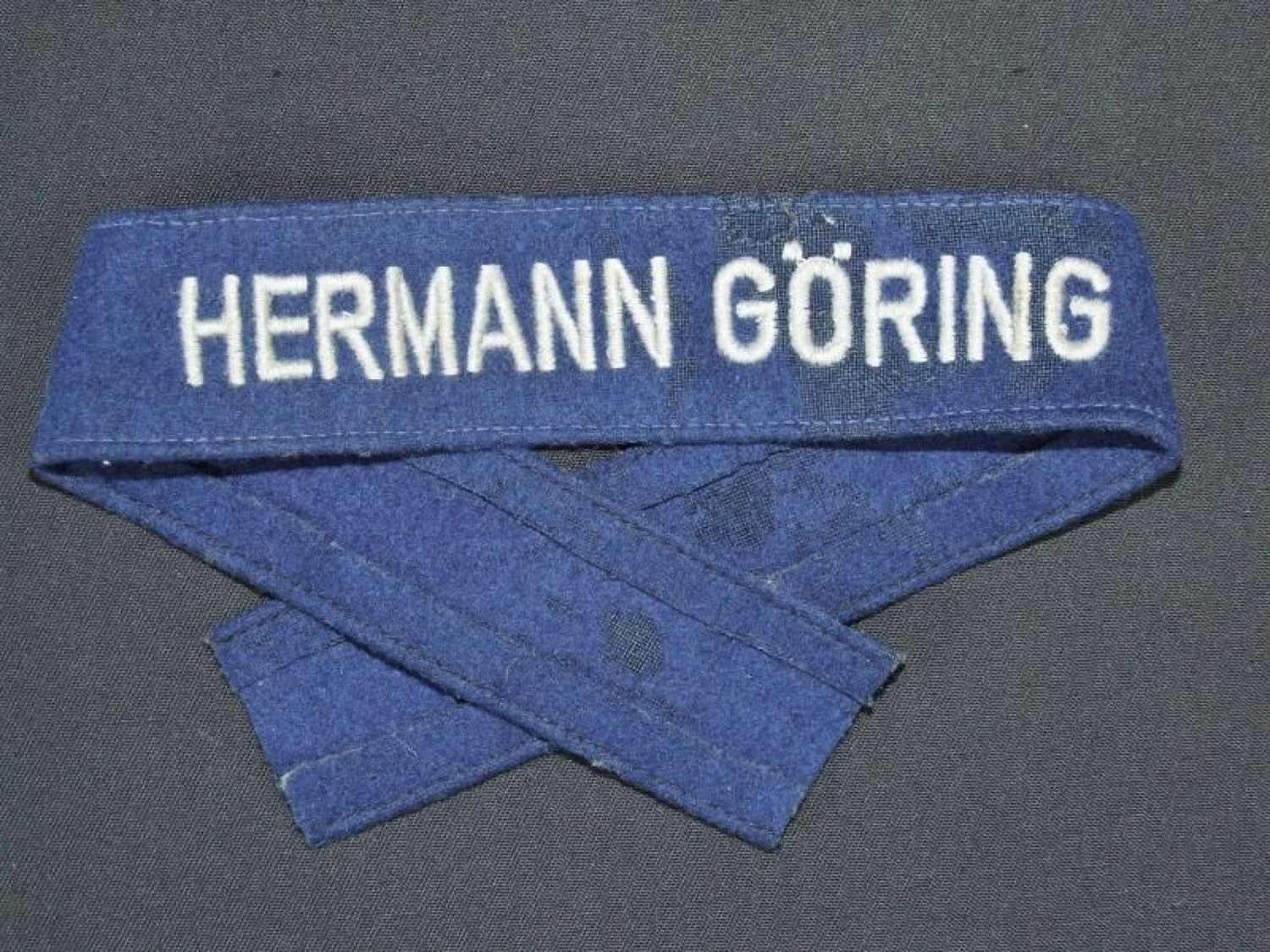 Hermann Goring Division Cuff Title