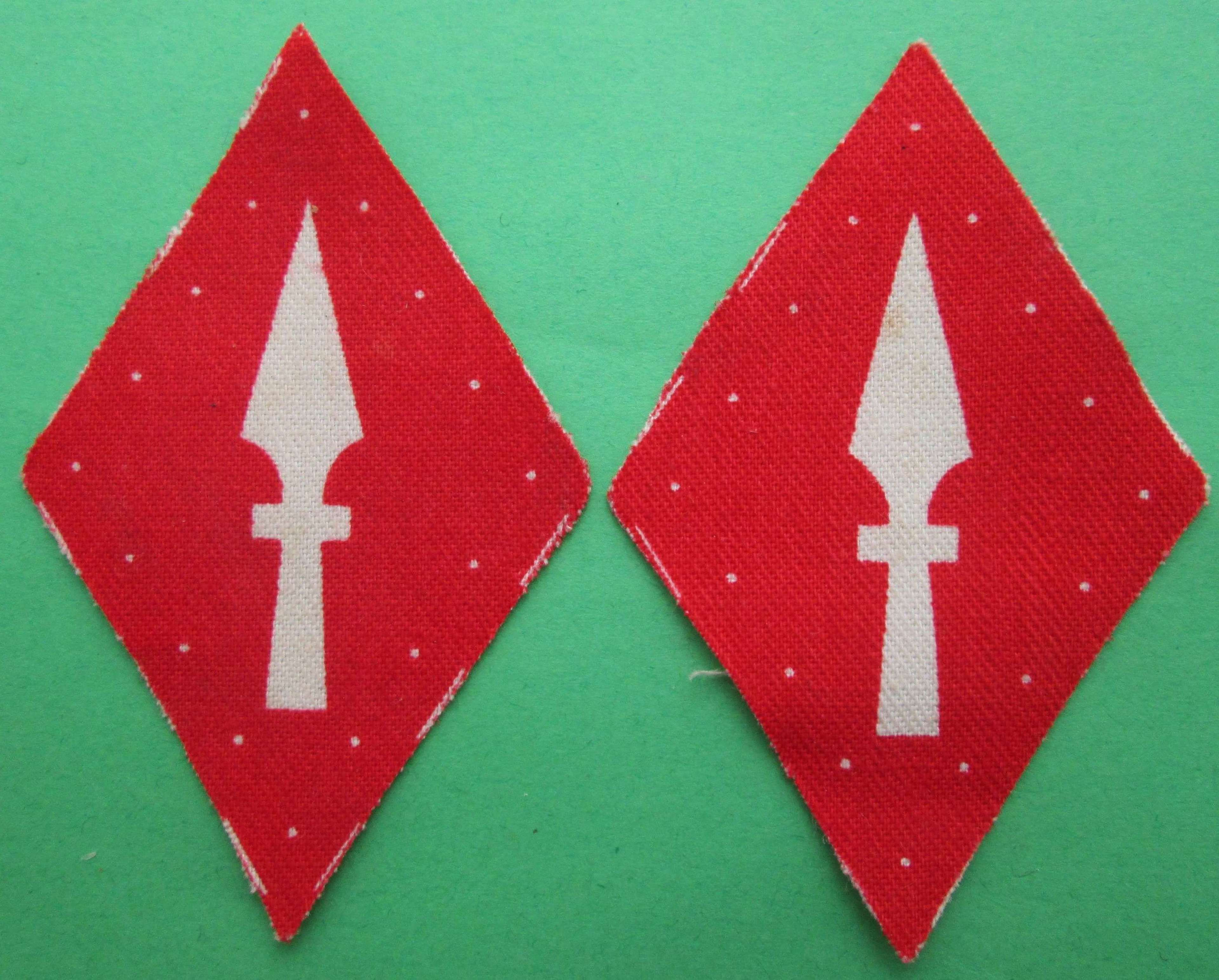 A PAIR OF 1ST CORPS FORMATION SIGNS