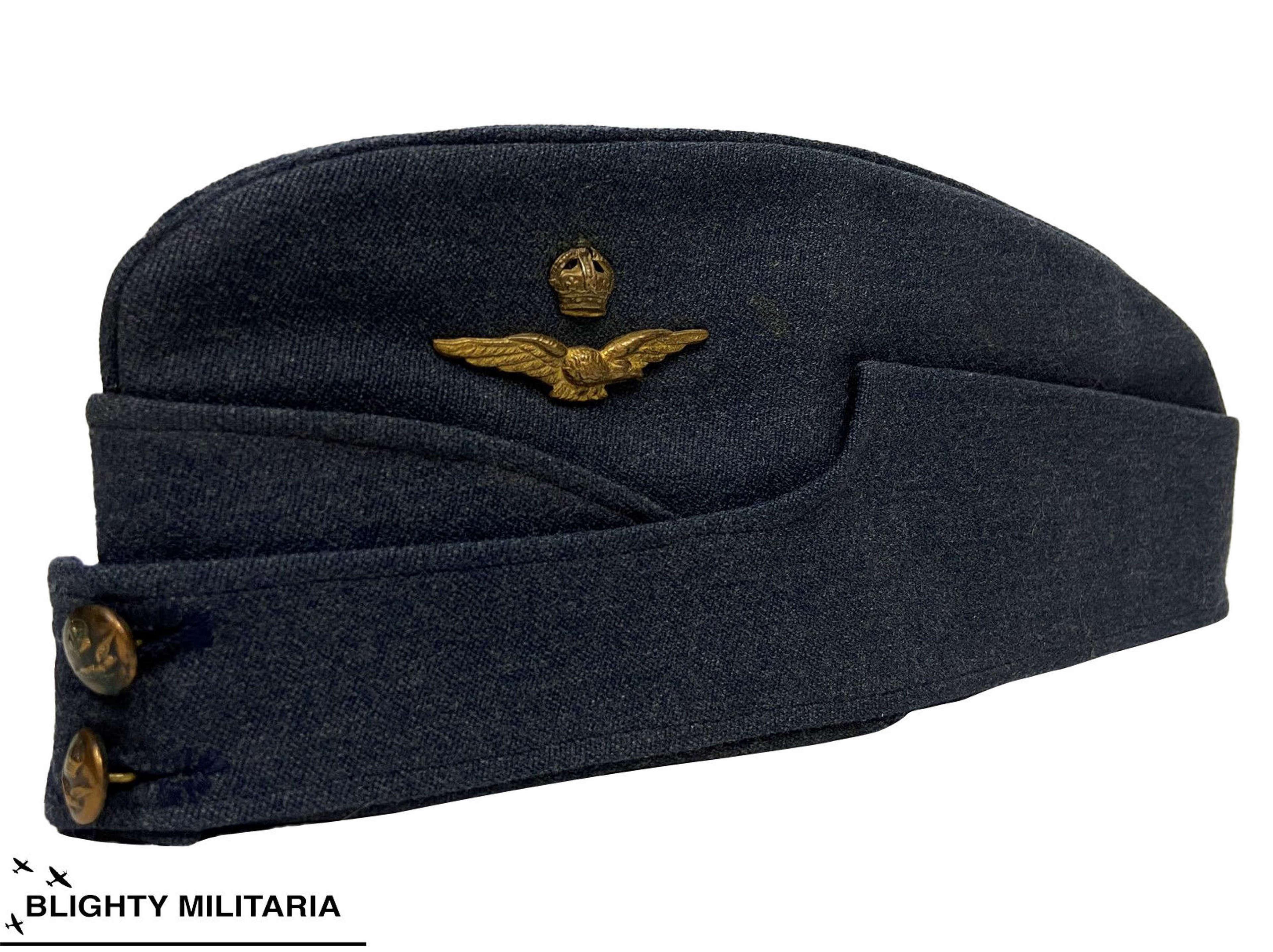 Original WW2 RAF Officers Forage Cap - Large Size