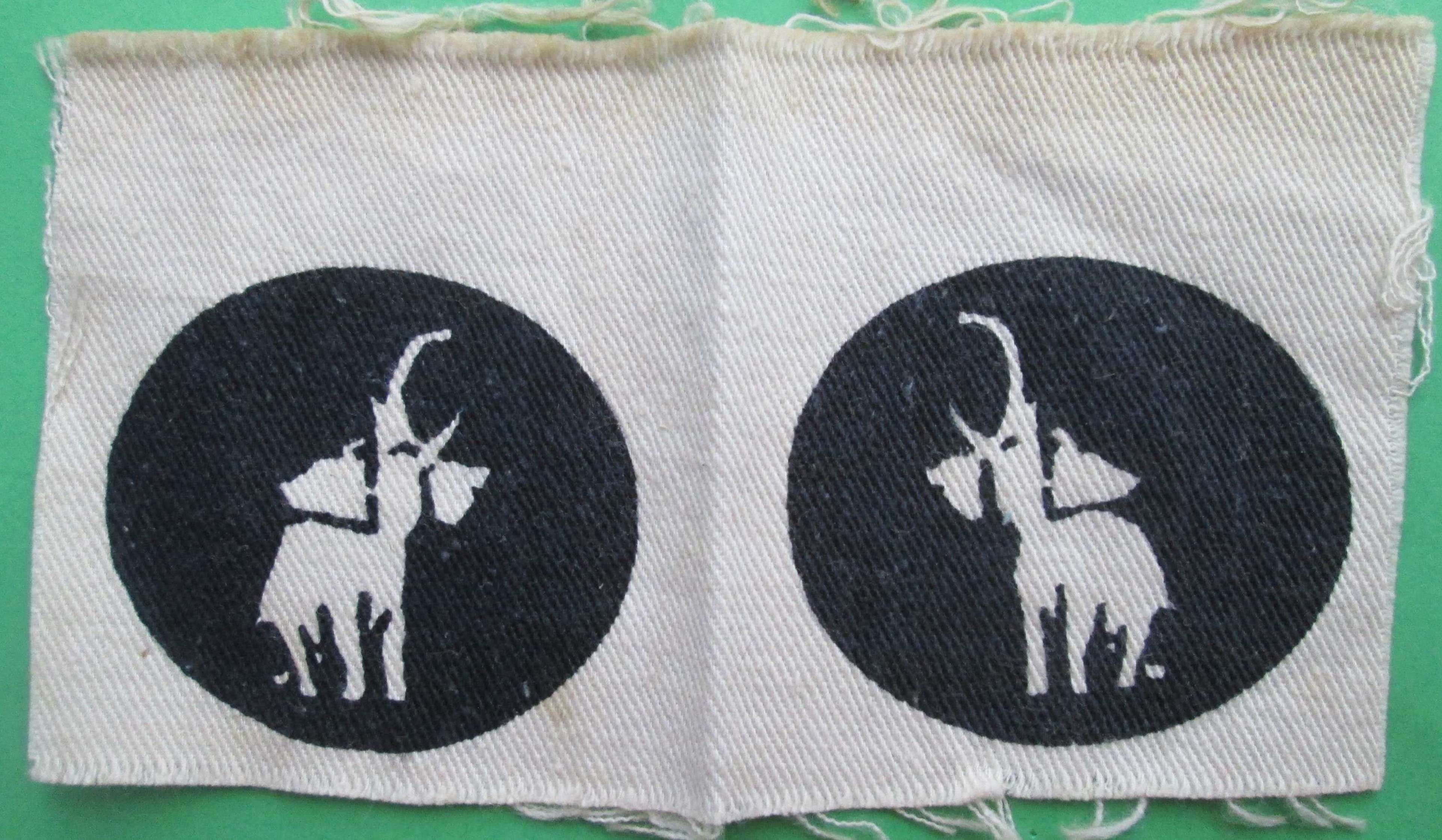 A PAIR OF RARE FORMATION SIGNS FOR THE 22 (EAST AFRICAN) BRIGADE
