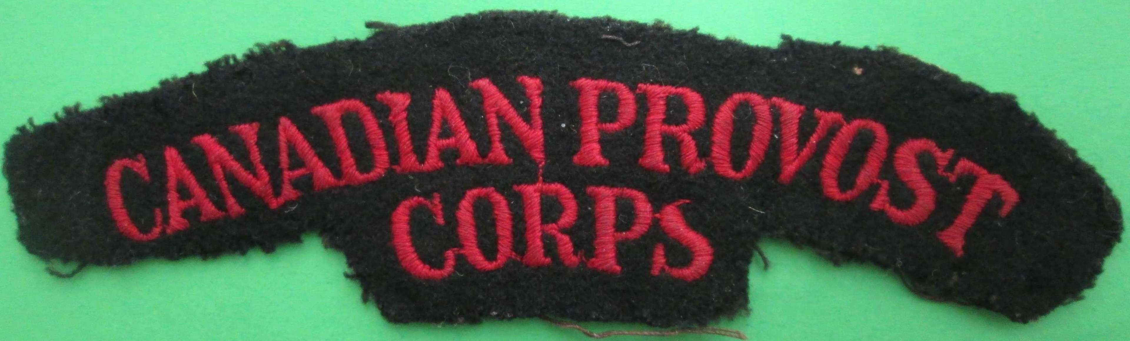 SHOULDER TITLE FOR THE CANADIAN PROVOST CORPS