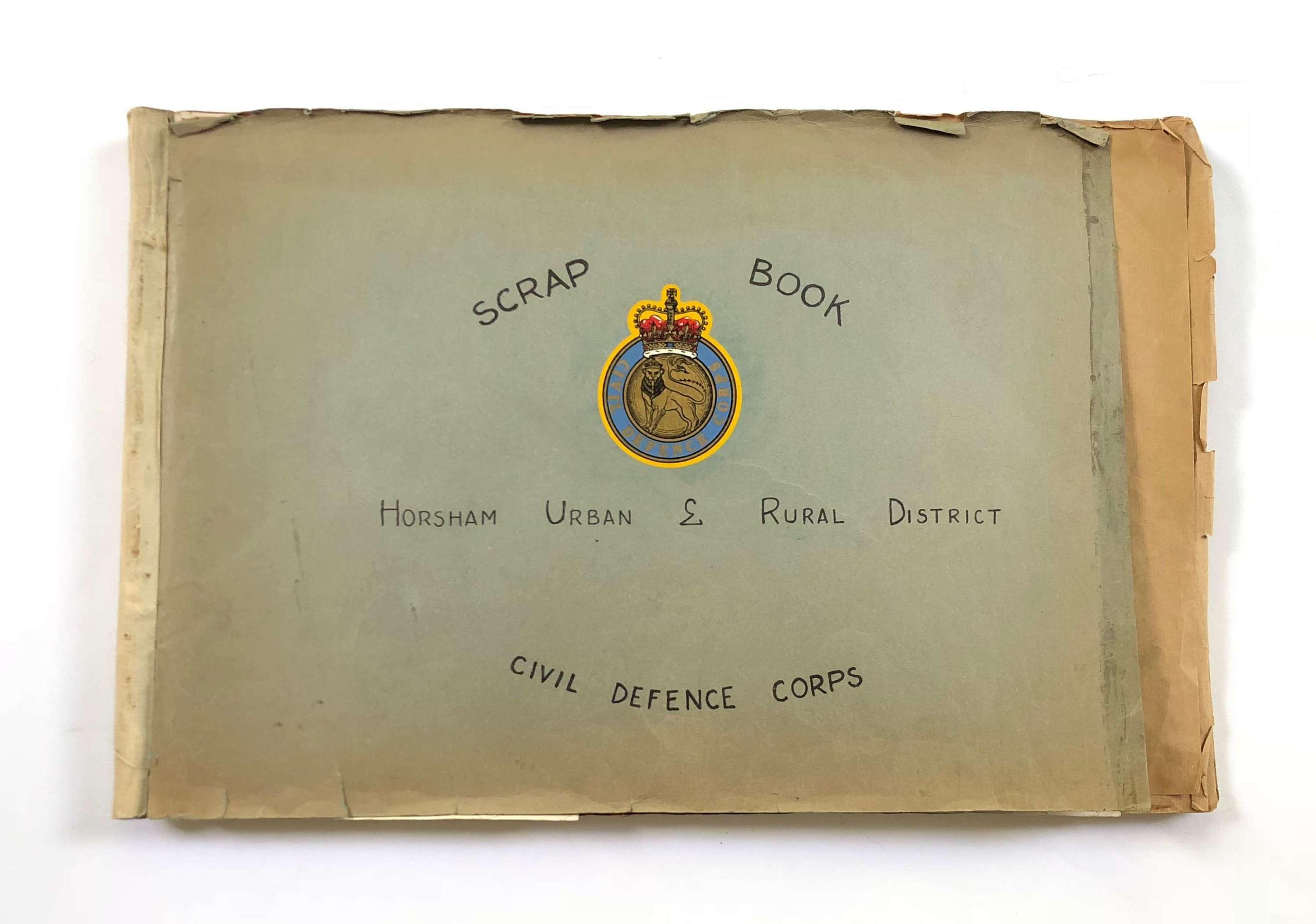 Cold War Period Civil Defence Horsham West Sussex Scrap Book.