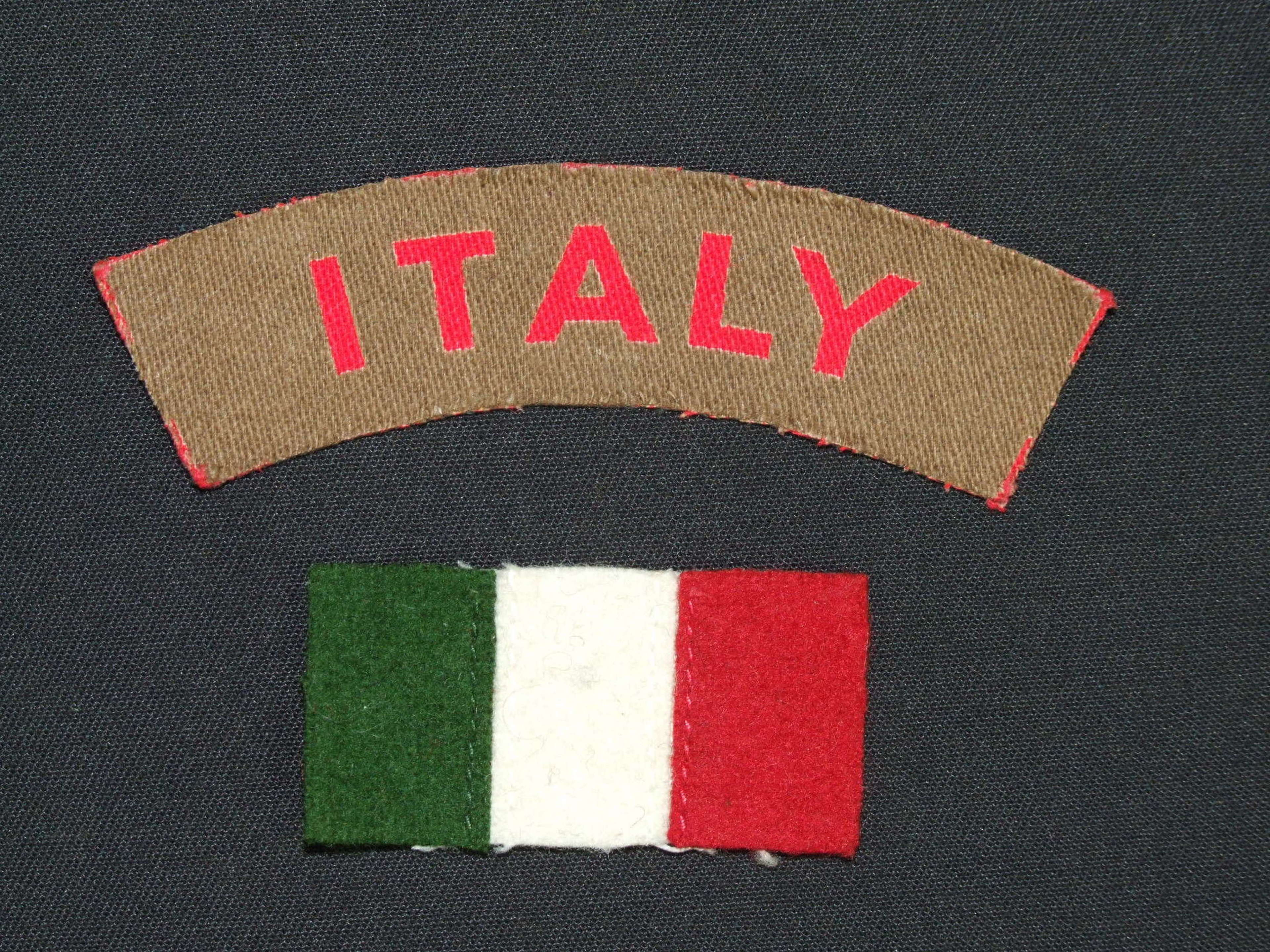 A Scarce Shoulder Title and Service Stripe to the Italian Co-Operators