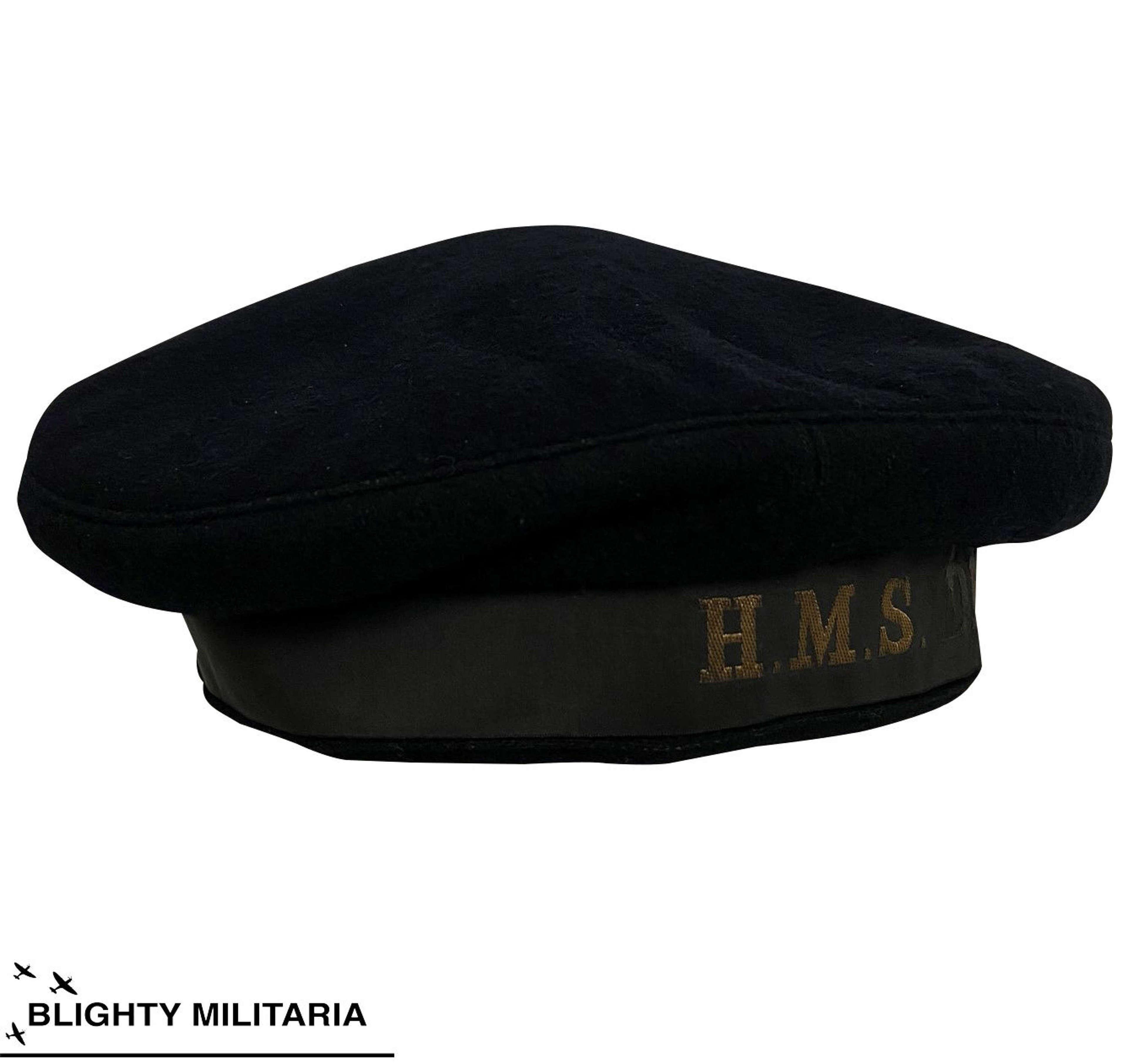 Original WW2 W.R.N.S Ratings Cap - HMS Drake