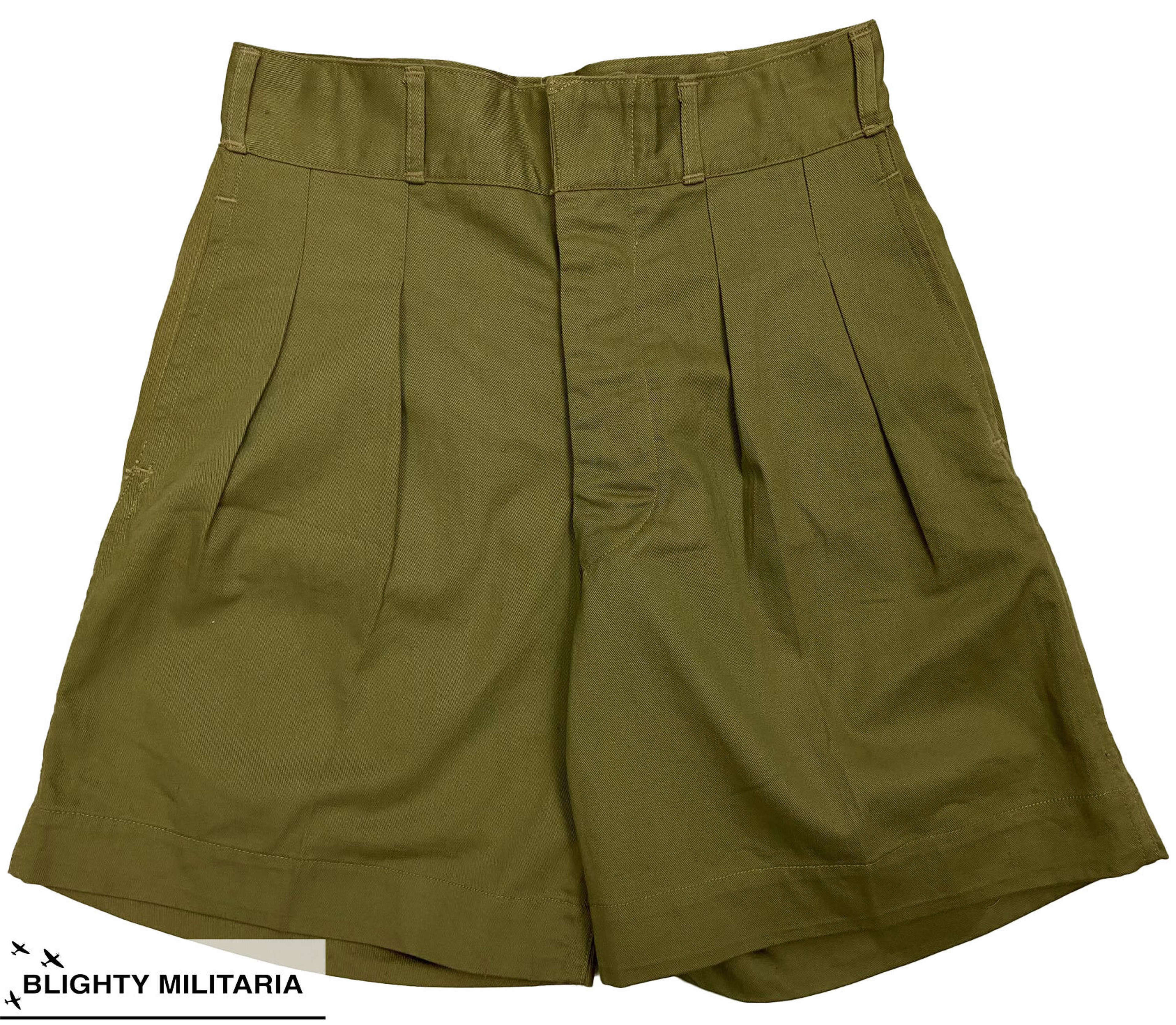 Original 1946 Dated Canadian Khaki Drill Shorts - Size 7