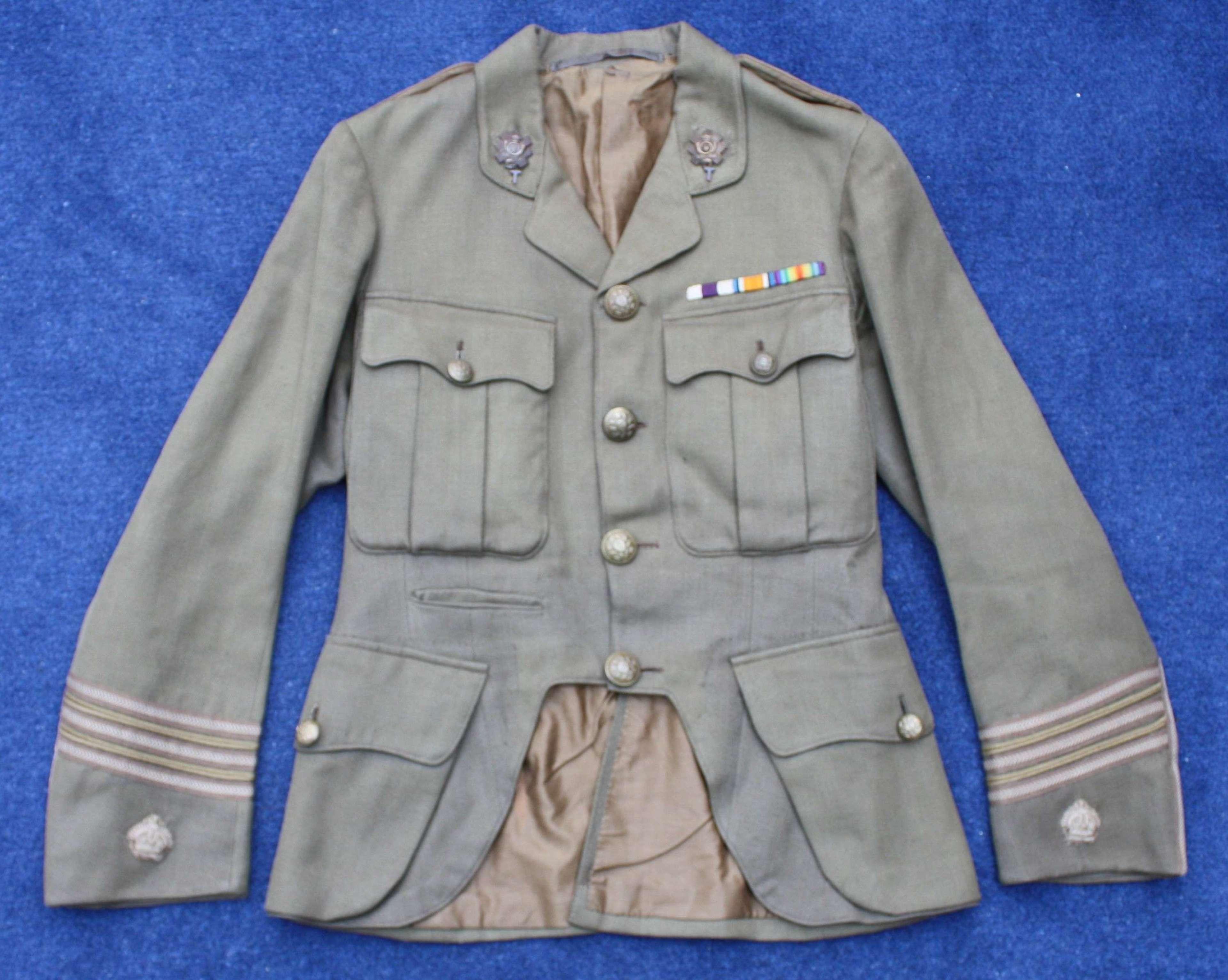 WW1 BRITISH ARMY MAJOR'S CUFF RANK TUNIC HIGHLAND LIGHT INFANTRY