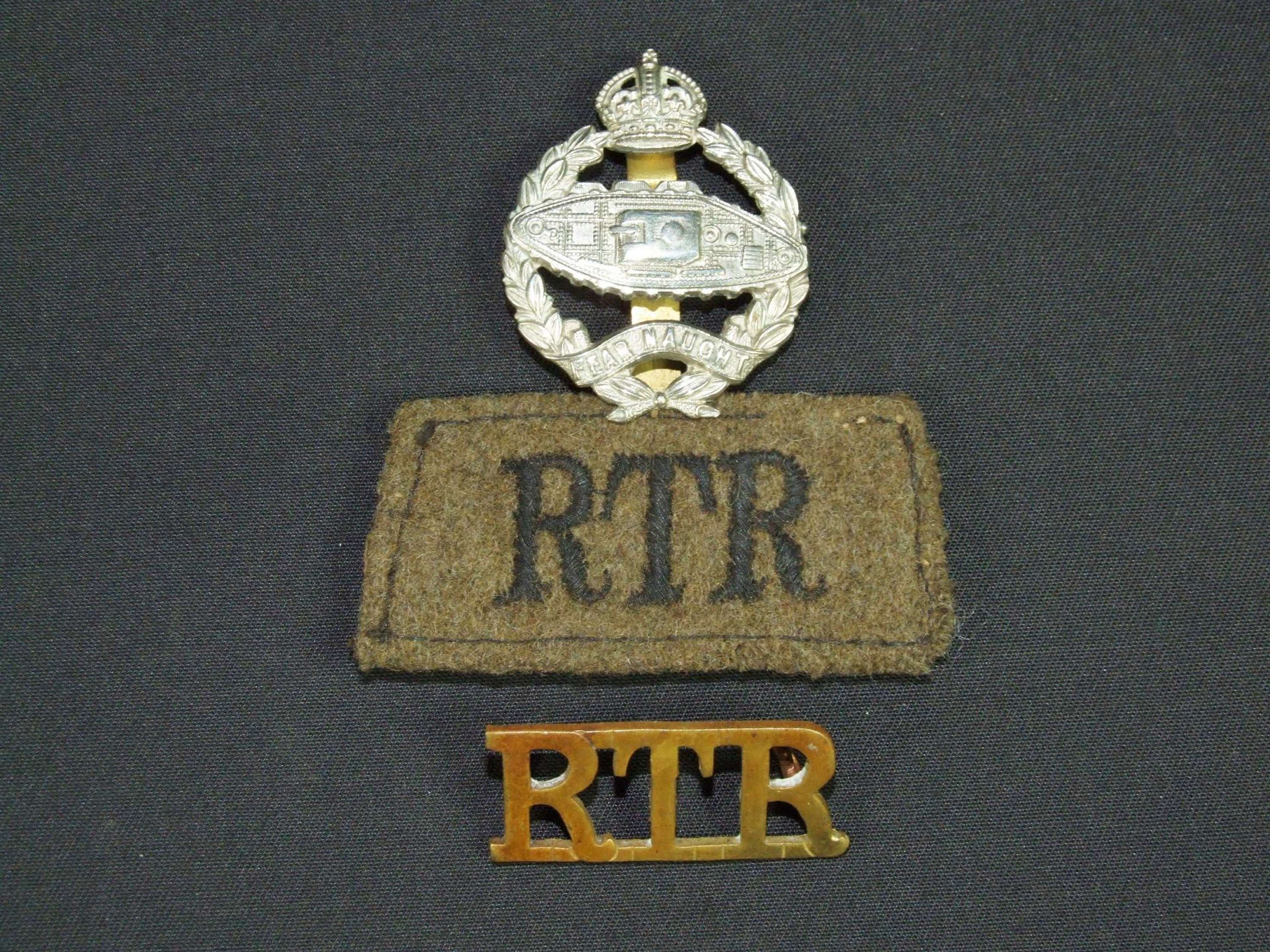 WW11 Insignia Set Royal Tank Regiment